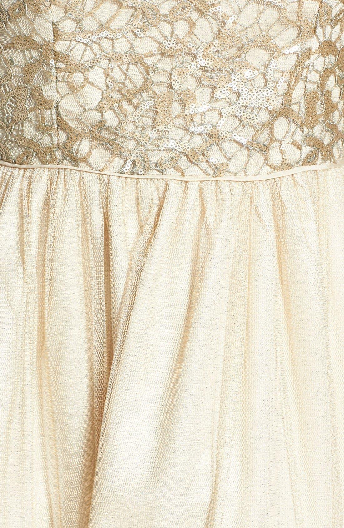 Alternate Image 4  - Aidan Mattox Embellished Tulle Fit & Flare Dress