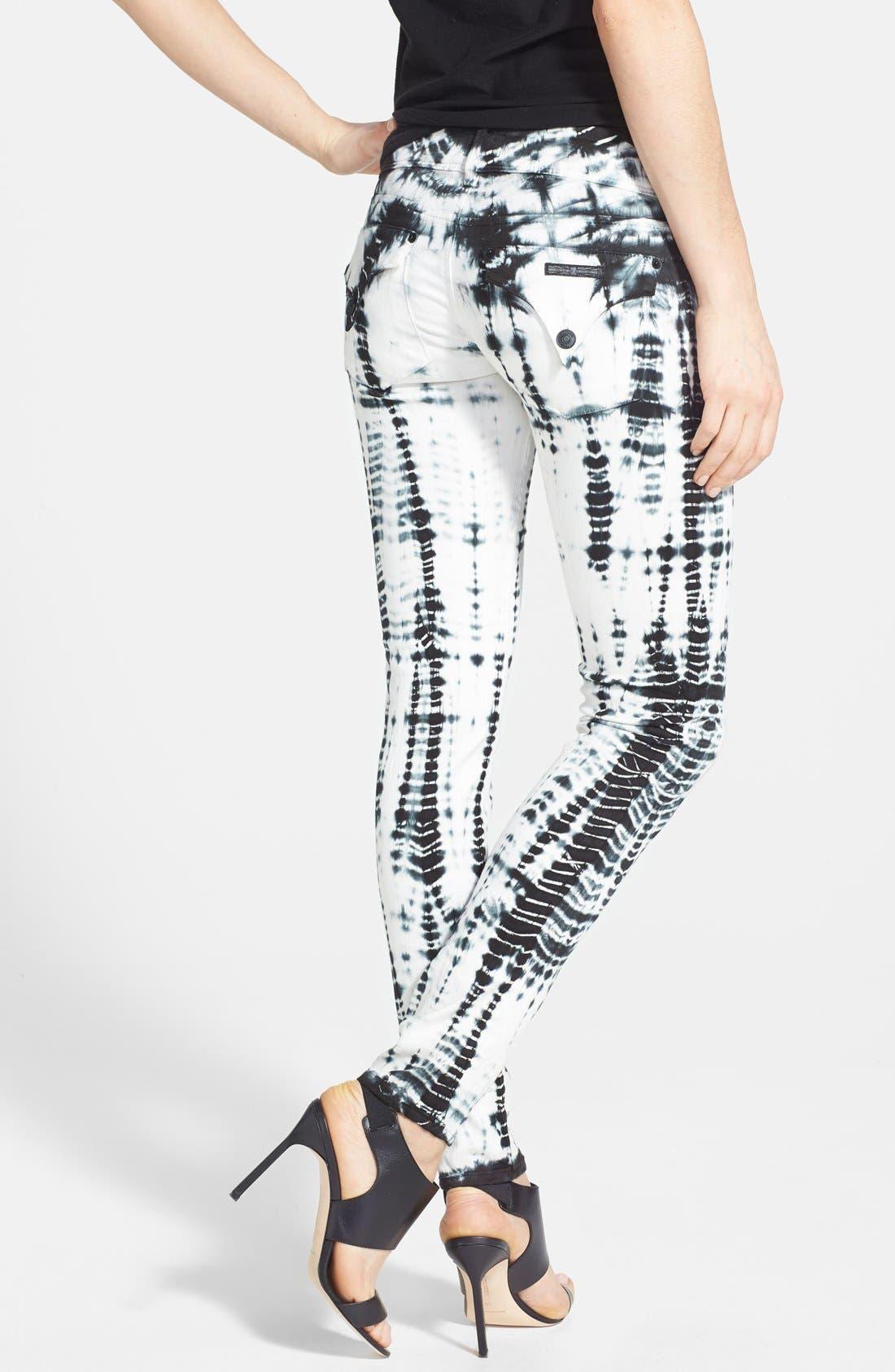 Alternate Image 2  - Hudson Jeans Tie Dye Skinny Stretch Jeans (Illusions)