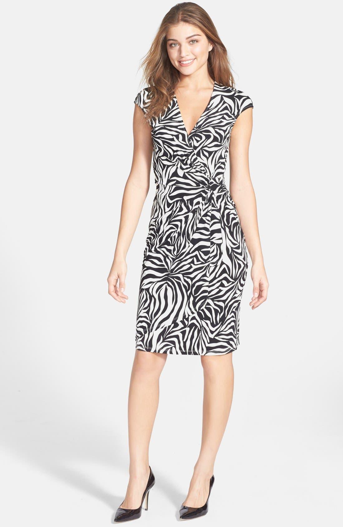 Alternate Image 3  - Maggy London Print Jersey Sheath Dress