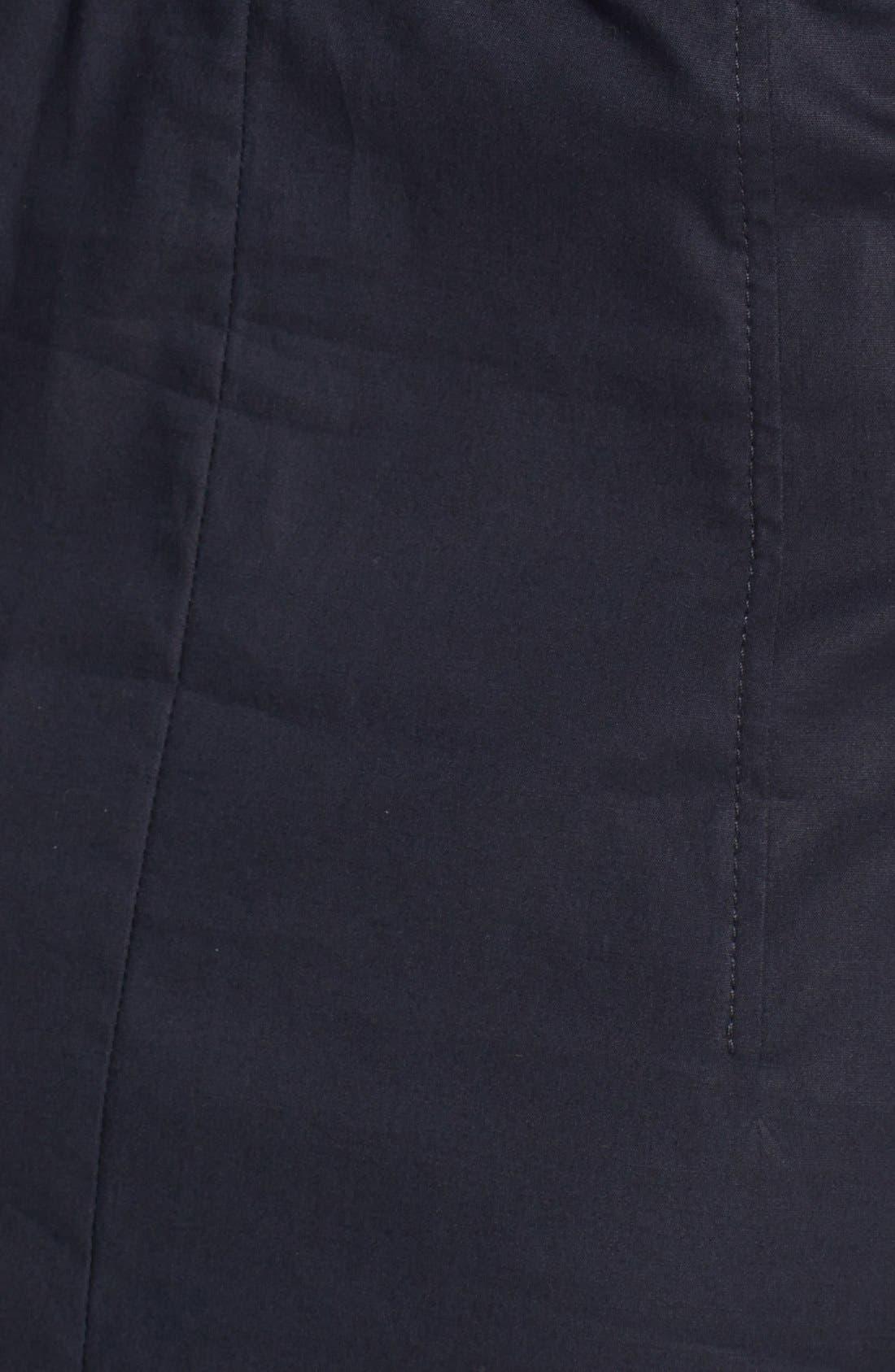 Alternate Image 3  - BOSS 'Damalen' Belted Stretch Cotton Fit & Flare Dress