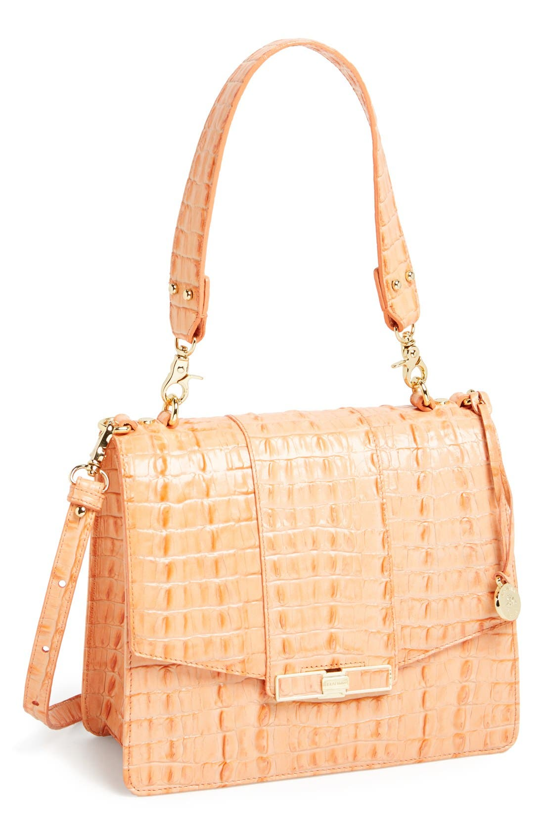 Alternate Image 1 Selected - Brahmin 'Ophelia' Croc Embossed Leather Shoulder Bag