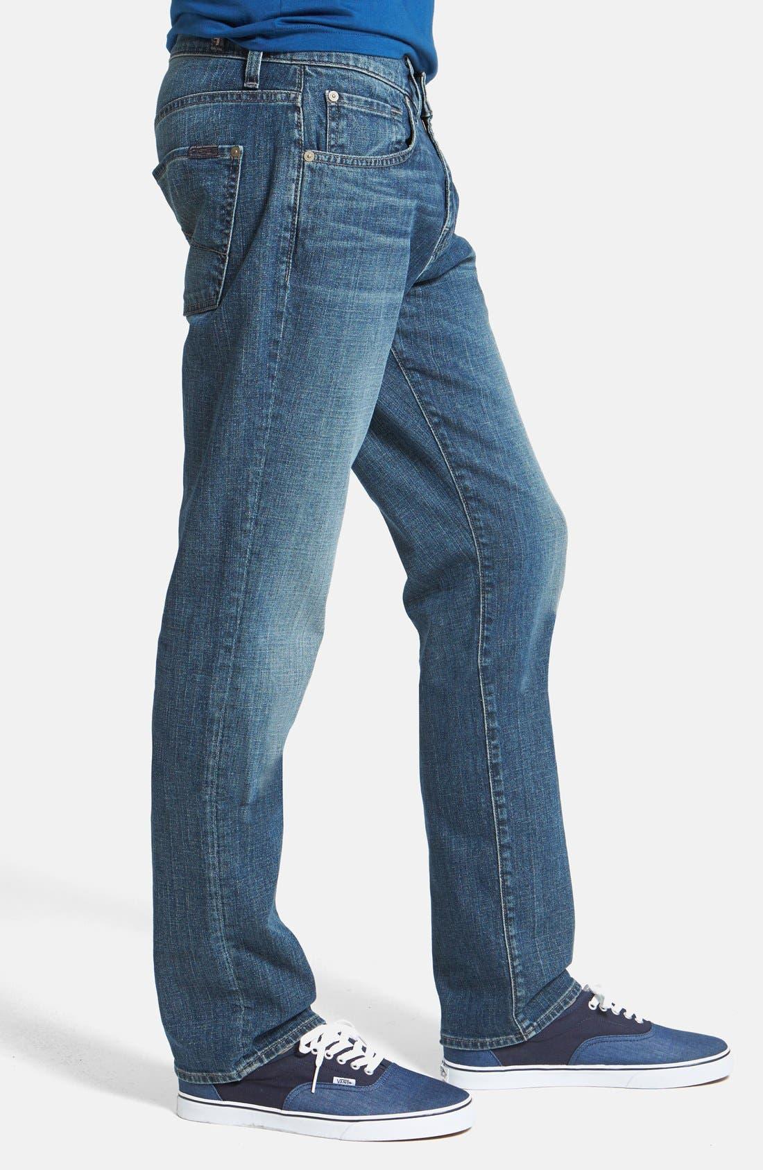 Alternate Image 3  - 7 For All Mankind® 'The Straight' Modern Straight Leg Jeans (Blueridge)