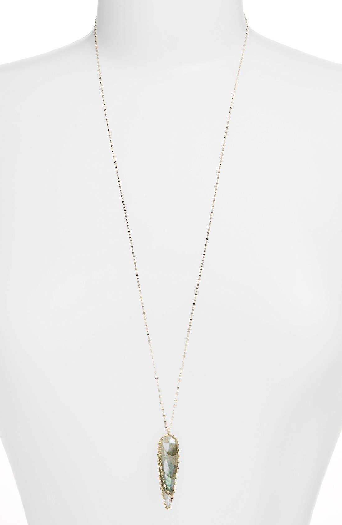 Alternate Image 2  - Lana Jewelry 'Ultra' Labradorite Spike Pendant Necklace