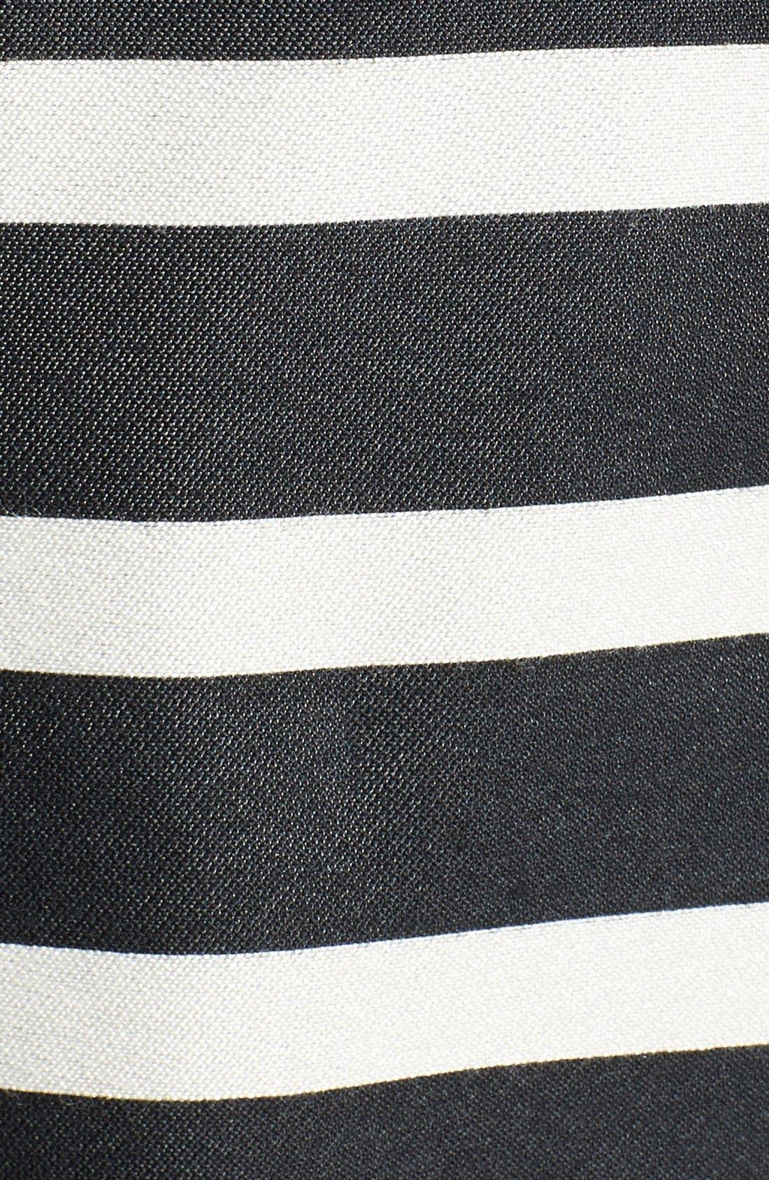 Alternate Image 4  - Eliza J Belted Stripe Jacquard Fit & Flare Dress