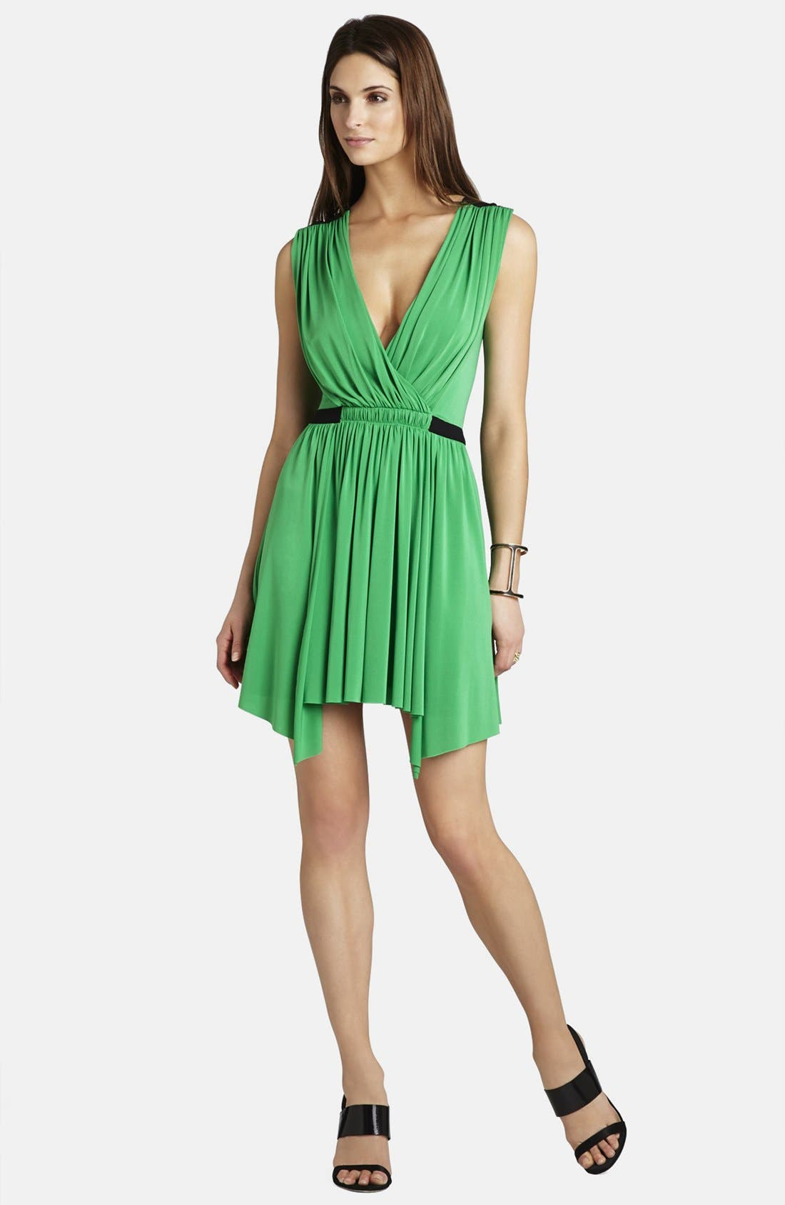 Alternate Image 3  - BCBGMAXAZRIA 'Olyvia' Shirred Matte Jersey Dress