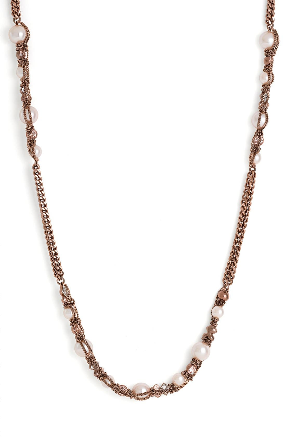 Alternate Image 2  - Givenchy Faux Pearl & Chain Long Necklace