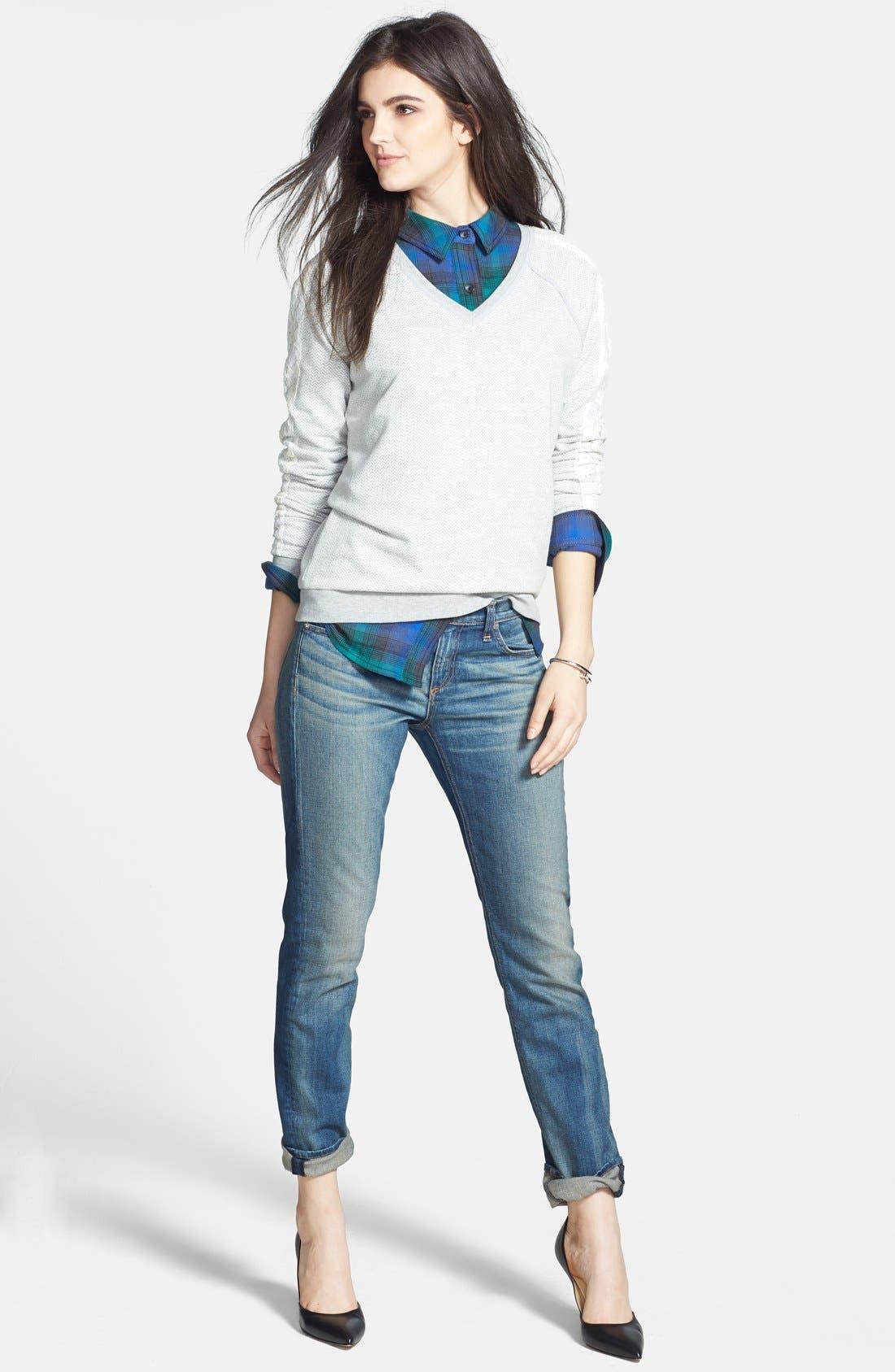 Alternate Image 8  - rag & bone/JEAN 'The Dre' Slim Fit Boyfriend Jeans (Golden) (Nordstrom Exclusive)