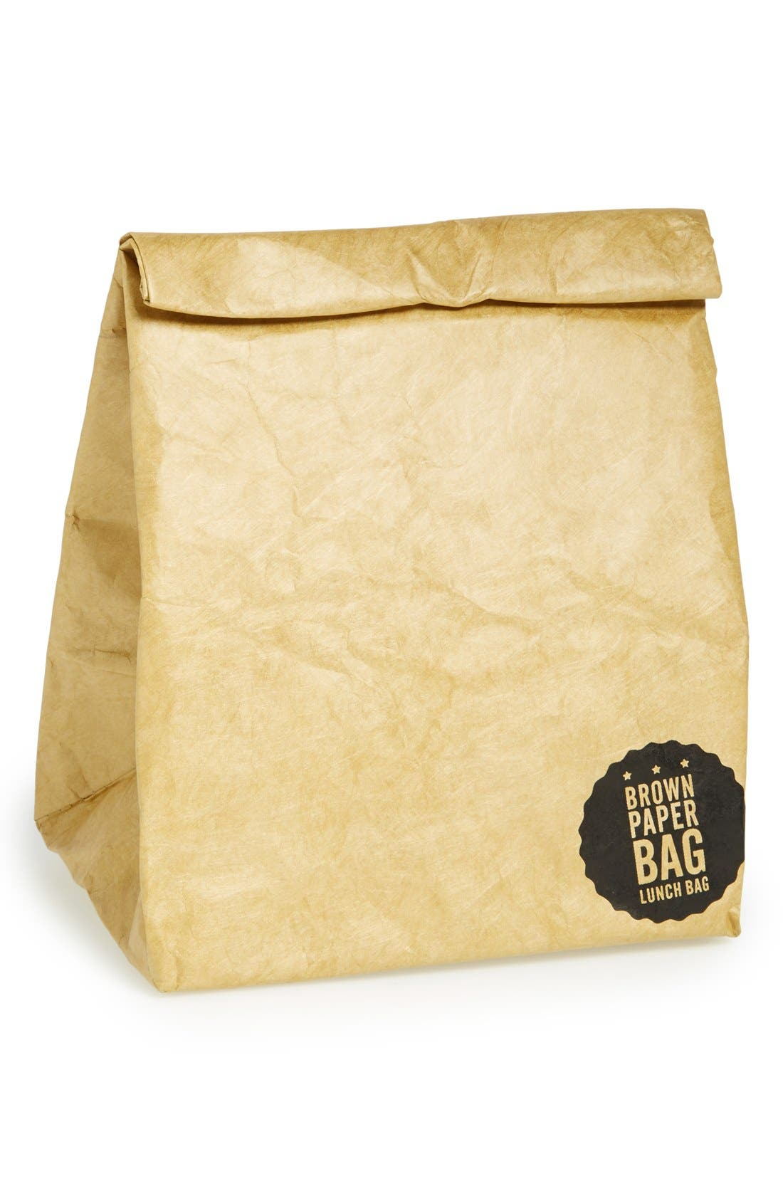 Alternate Image 1 Selected - Luckies of London 'Brown Paper Bag' Insulated Tyvek® Lunch Sack