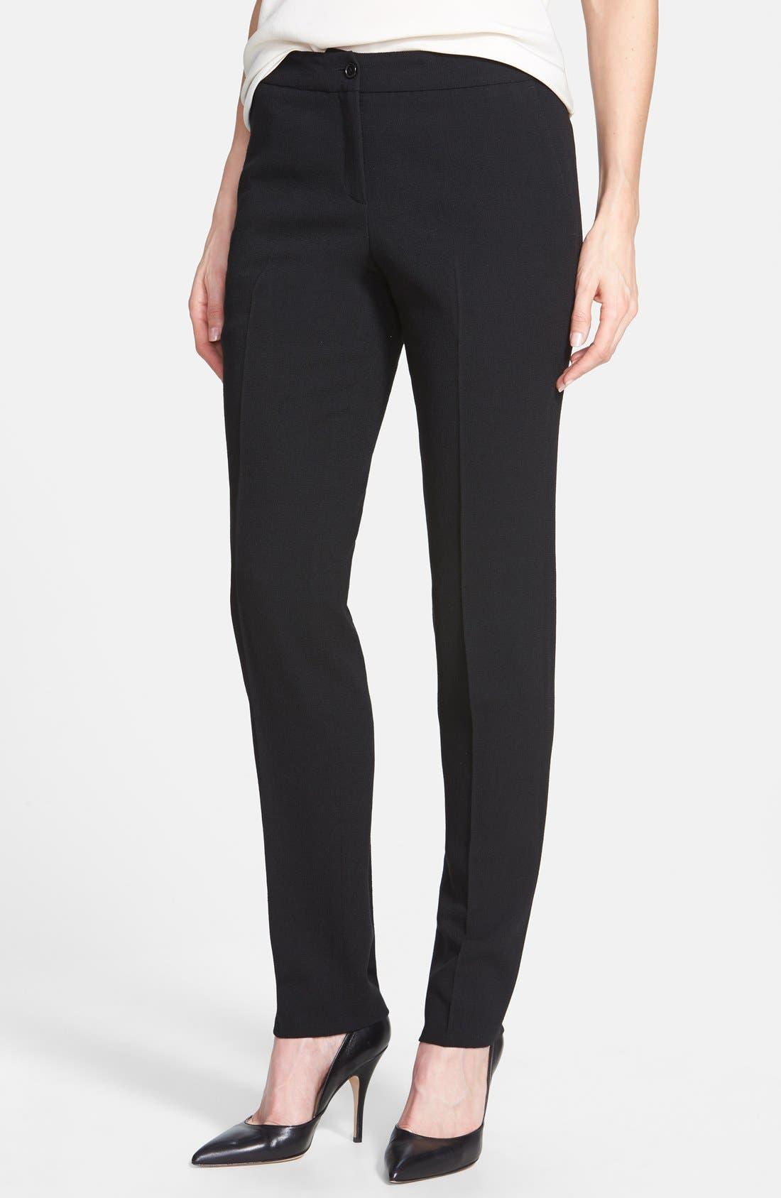 Alternate Image 1 Selected - Santorelli Slim Wool Crepe Ankle Pants