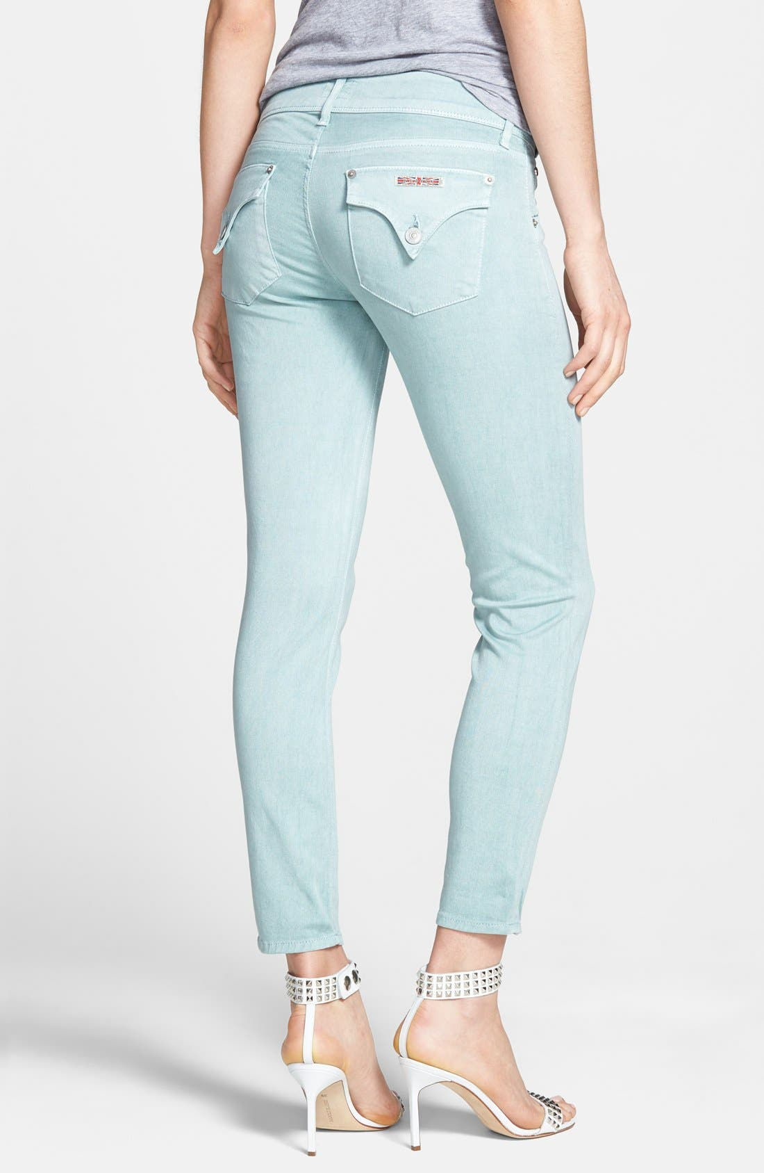 Alternate Image 2  - Hudson Jeans 'Collin' Crop Skinny Jeans (Dusty Pistachio)