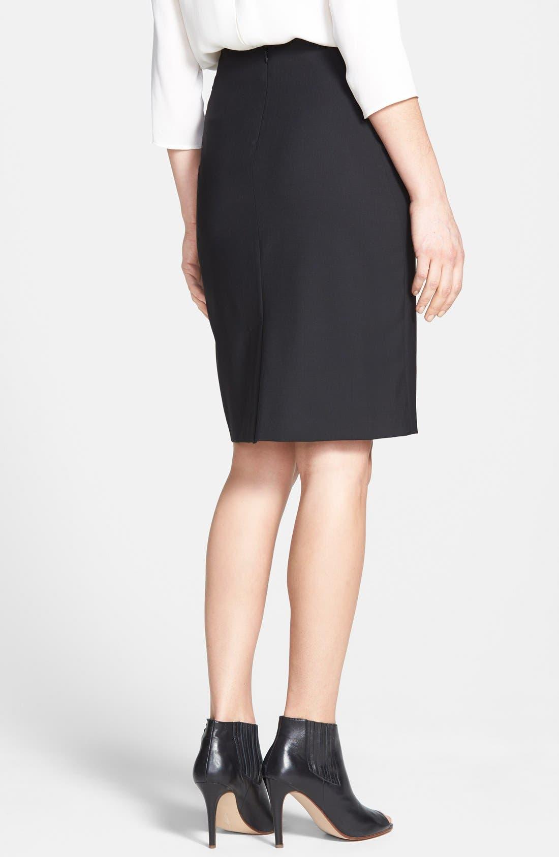 Alternate Image 2  - Theory 'Joanie' Stretch Wool Pencil Skirt