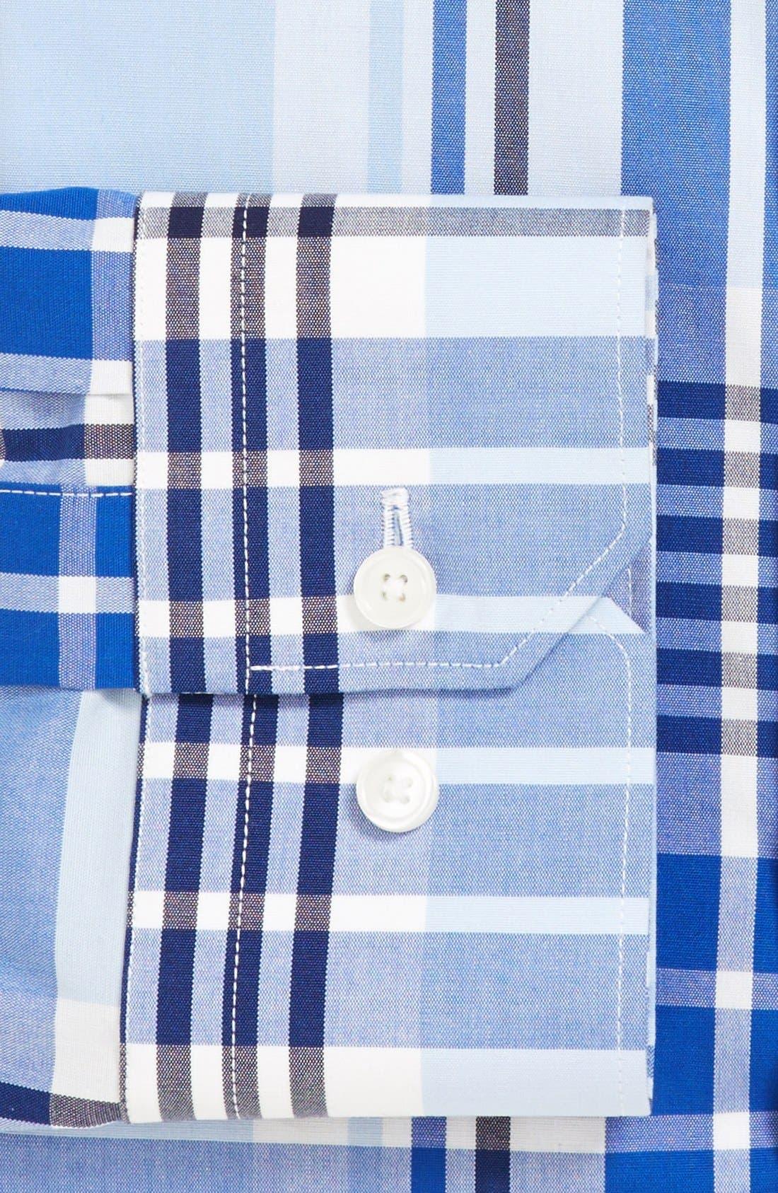 Alternate Image 2  - Calibrate Extra Trim Fit Non-Iron Stretch Plaid Dress Shirt