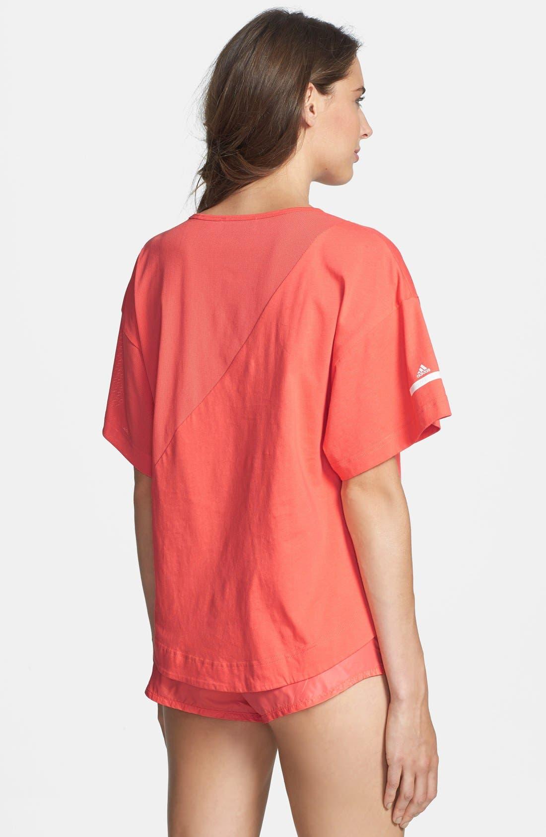 Alternate Image 2  - adidas by Stella McCartney 'Yoga Loose' High/Low Crop Tee