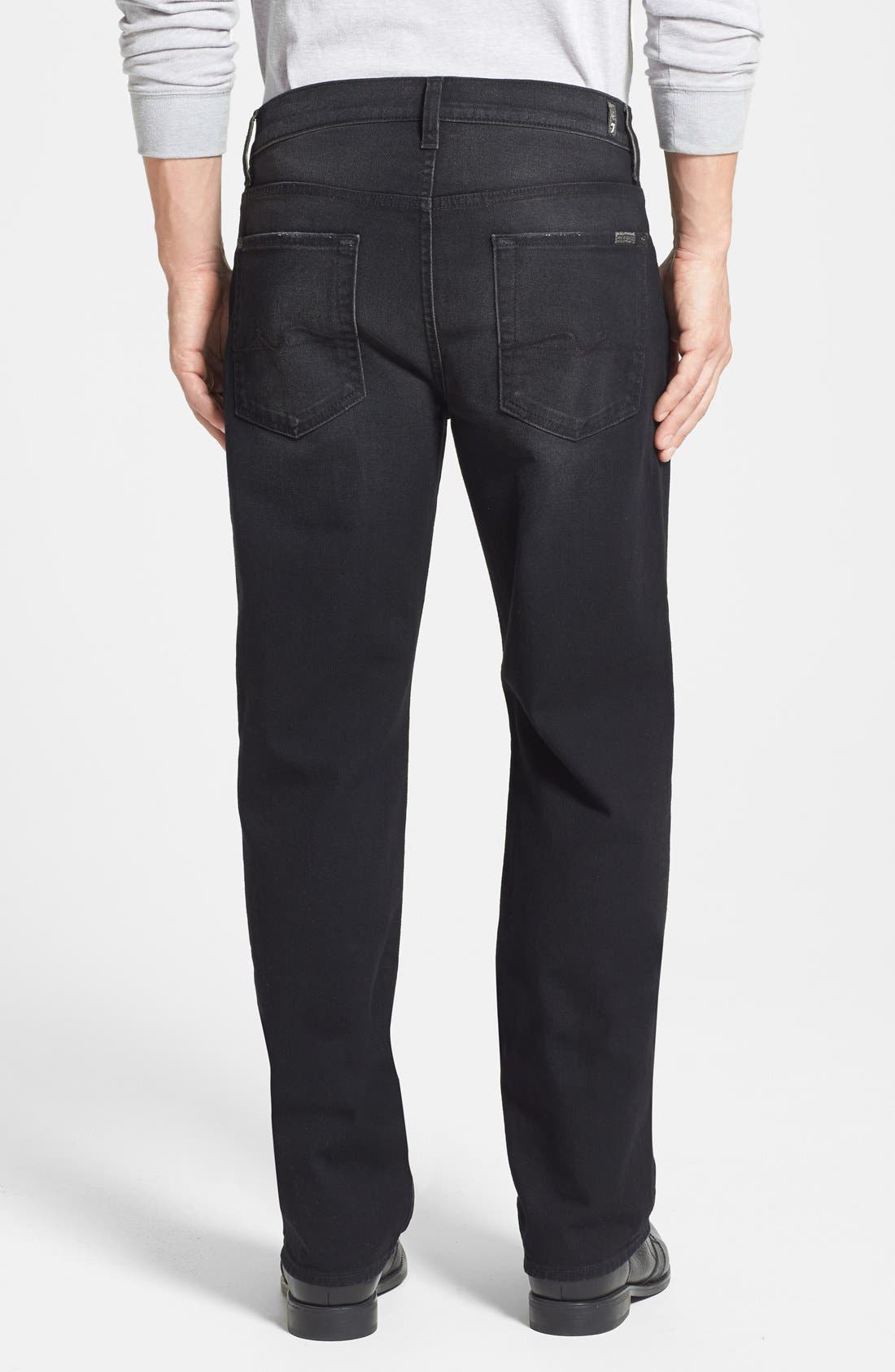 Alternate Image 2  - 7 For All Mankind® 'Austyn' Relaxed Straight Leg Jeans (Dark West Edge) (Online Only)