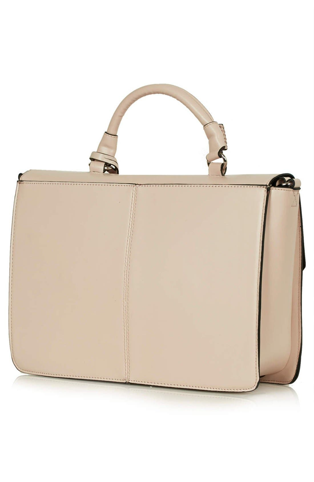 Alternate Image 3  - Topshop 'Clean' Faux Leather Satchel