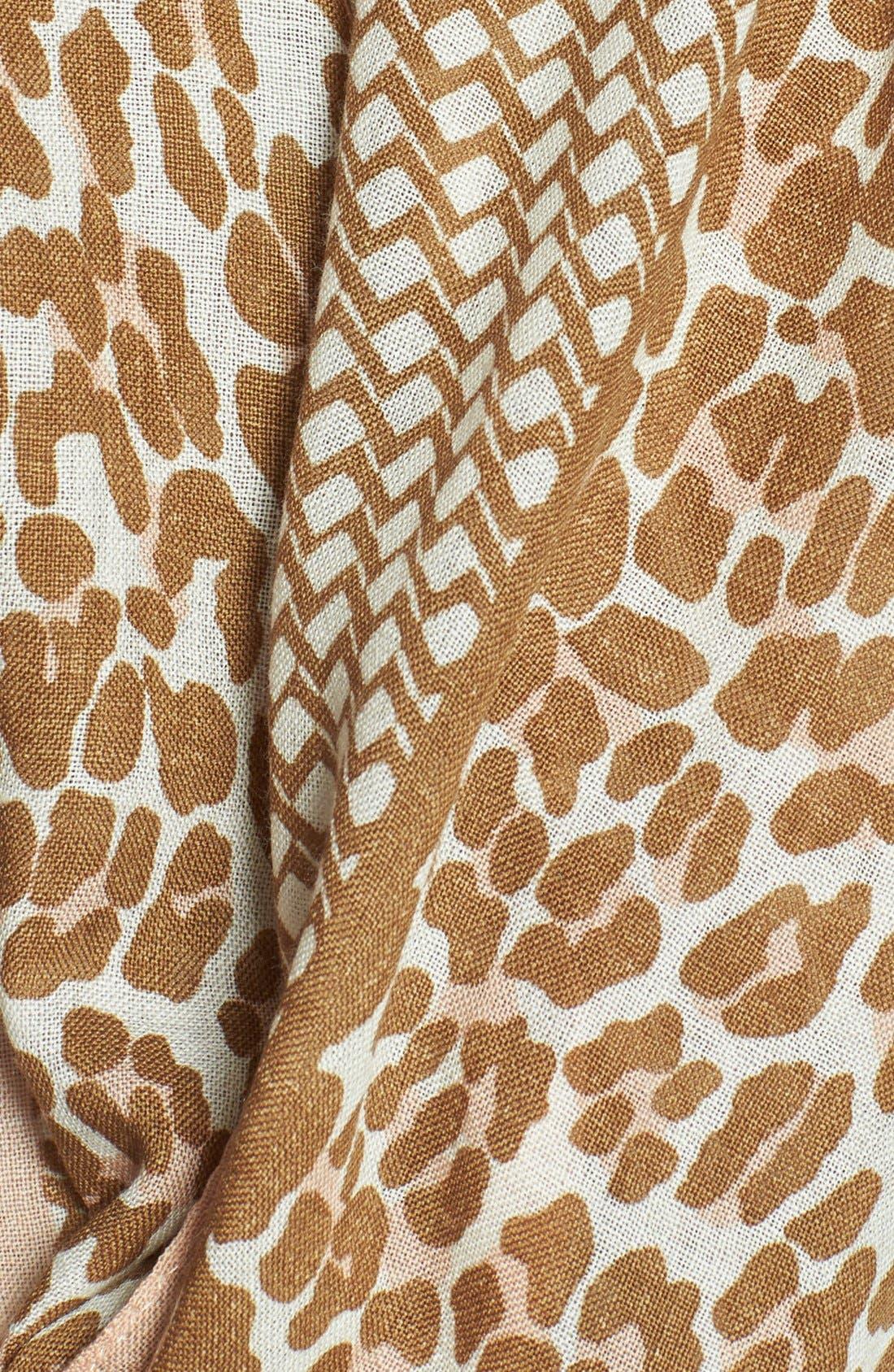 Alternate Image 4  - Tory Burch 'Reva - Leopard' Wool Gauze Scarf