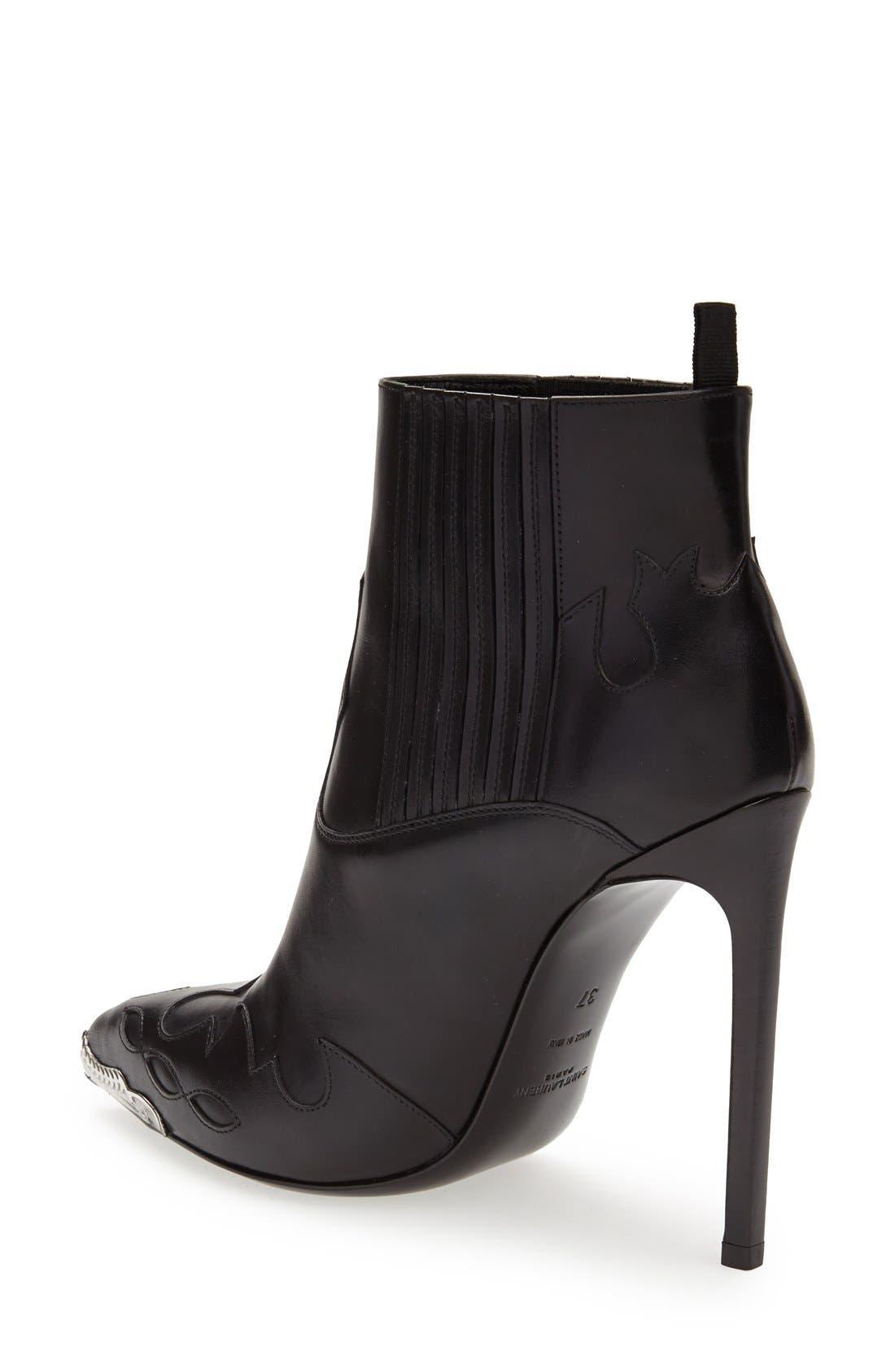 Alternate Image 2  - Saint Laurent Metallic Toe Bootie (Women)
