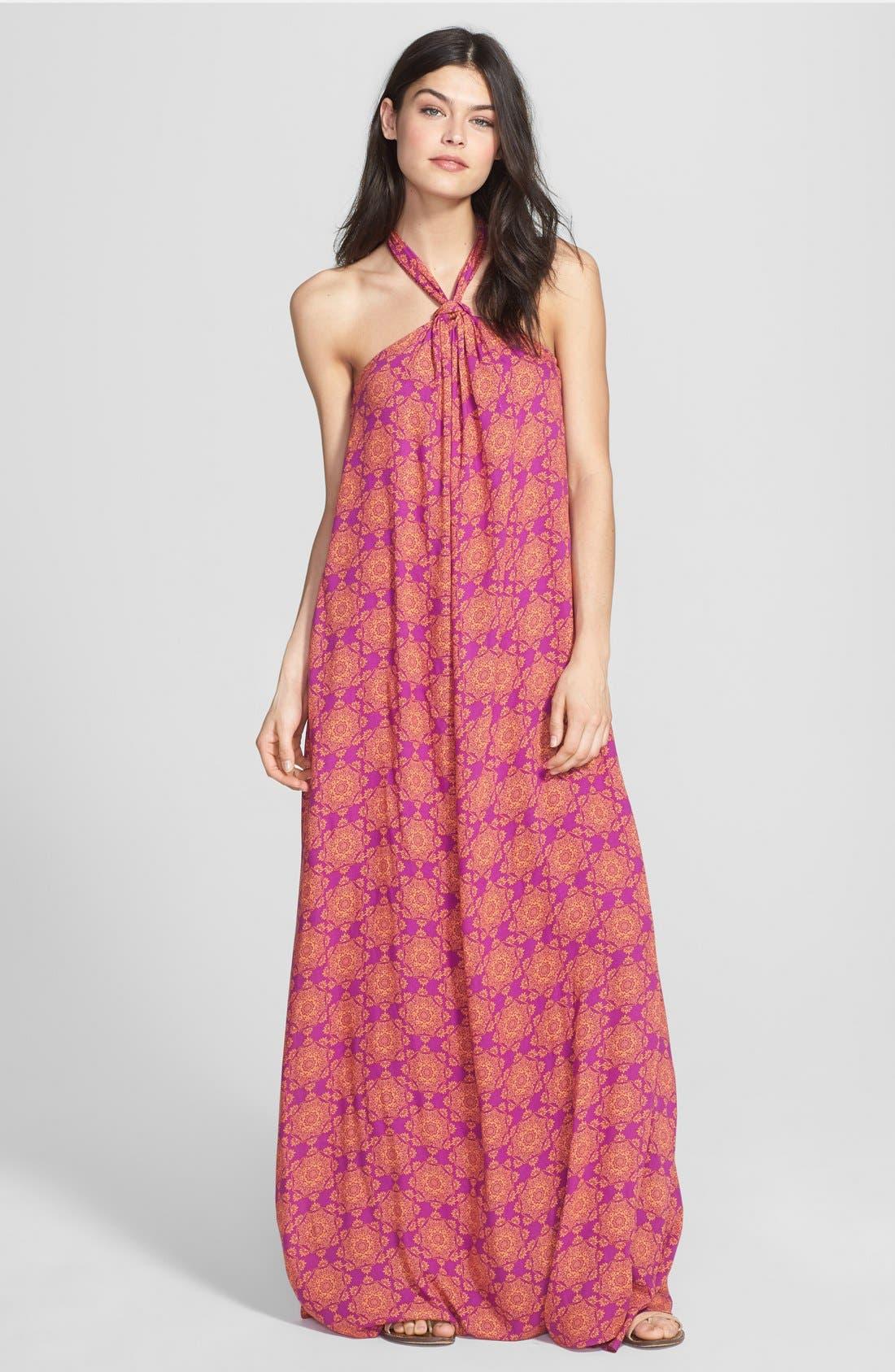 Alternate Image 1 Selected - Ella Moss 'Moselle' Print Halter Maxi Dress