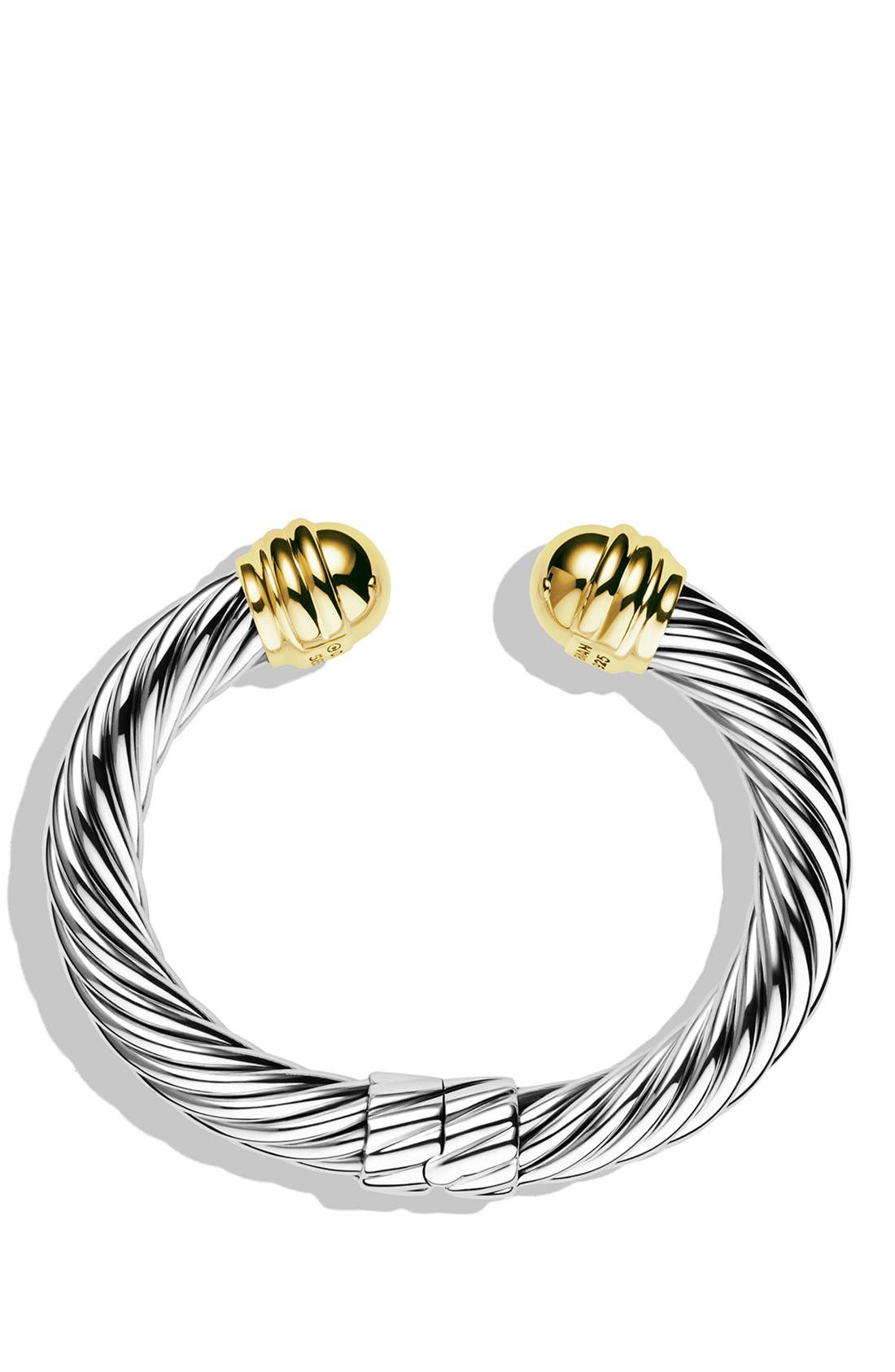 Alternate Image 2  - David Yurman 'Cable Classics' Bracelet with Gold Domes
