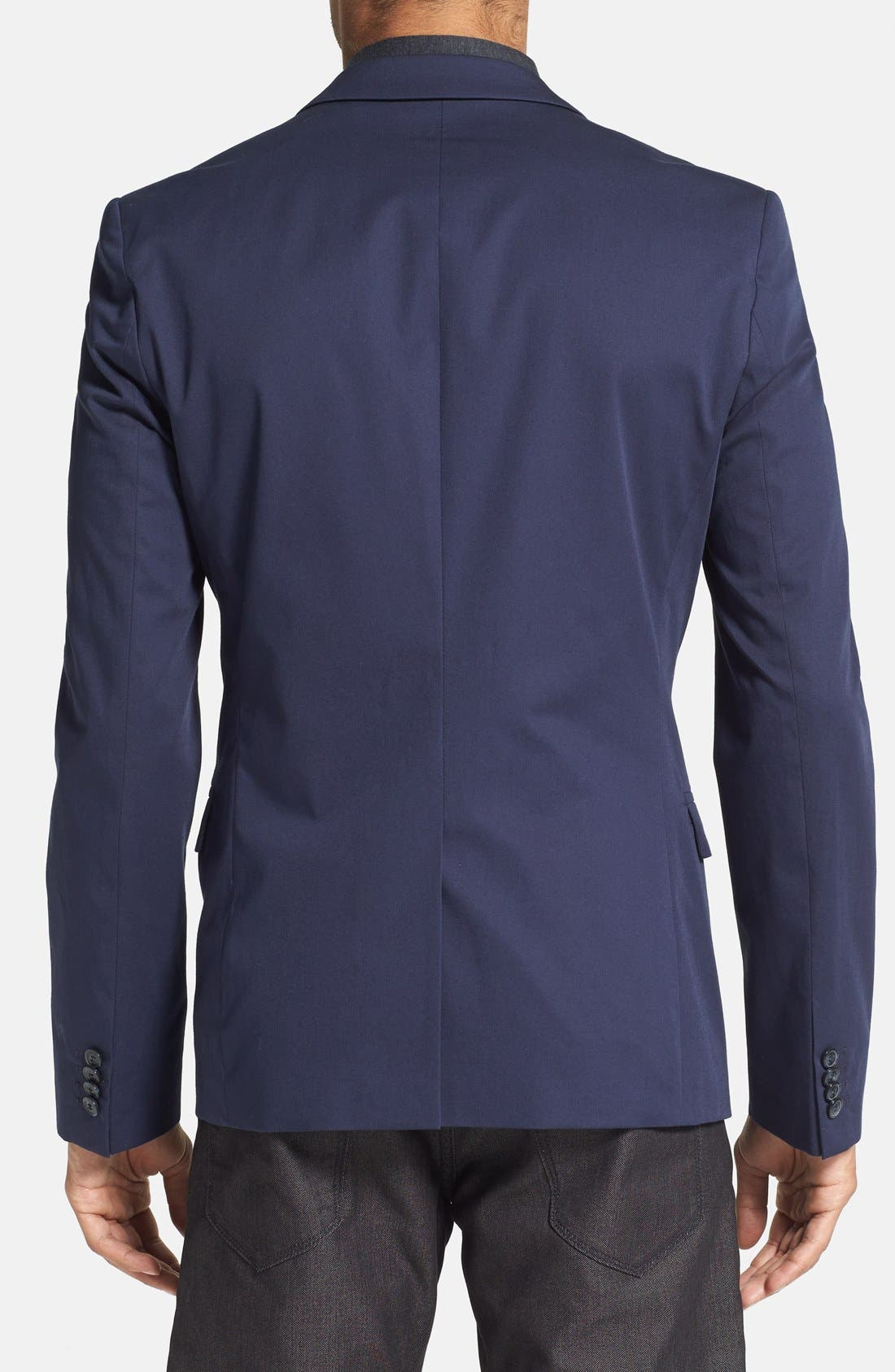 Alternate Image 2  - HUGO 'Ambrus' Trim Fit Navy Stretch Cotton Sport Coat (Online Only)