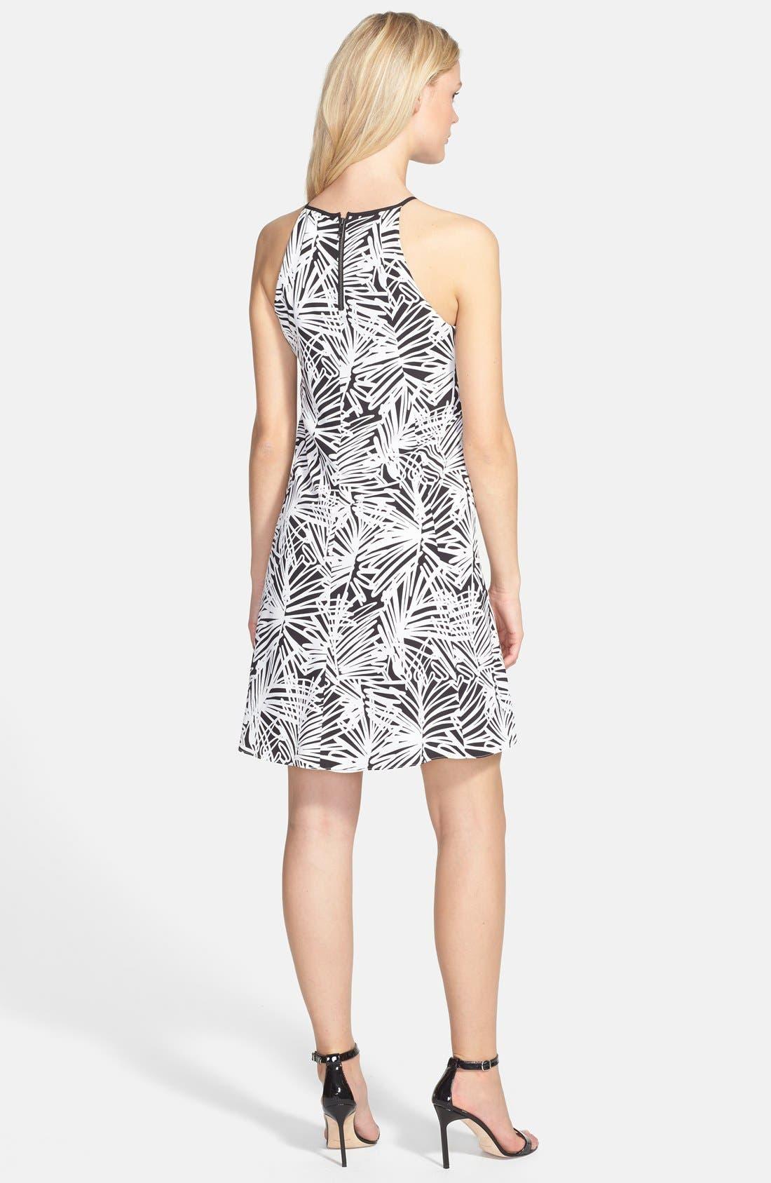 Alternate Image 2  - DKNYC Print Sleeveless Trapeze Dress