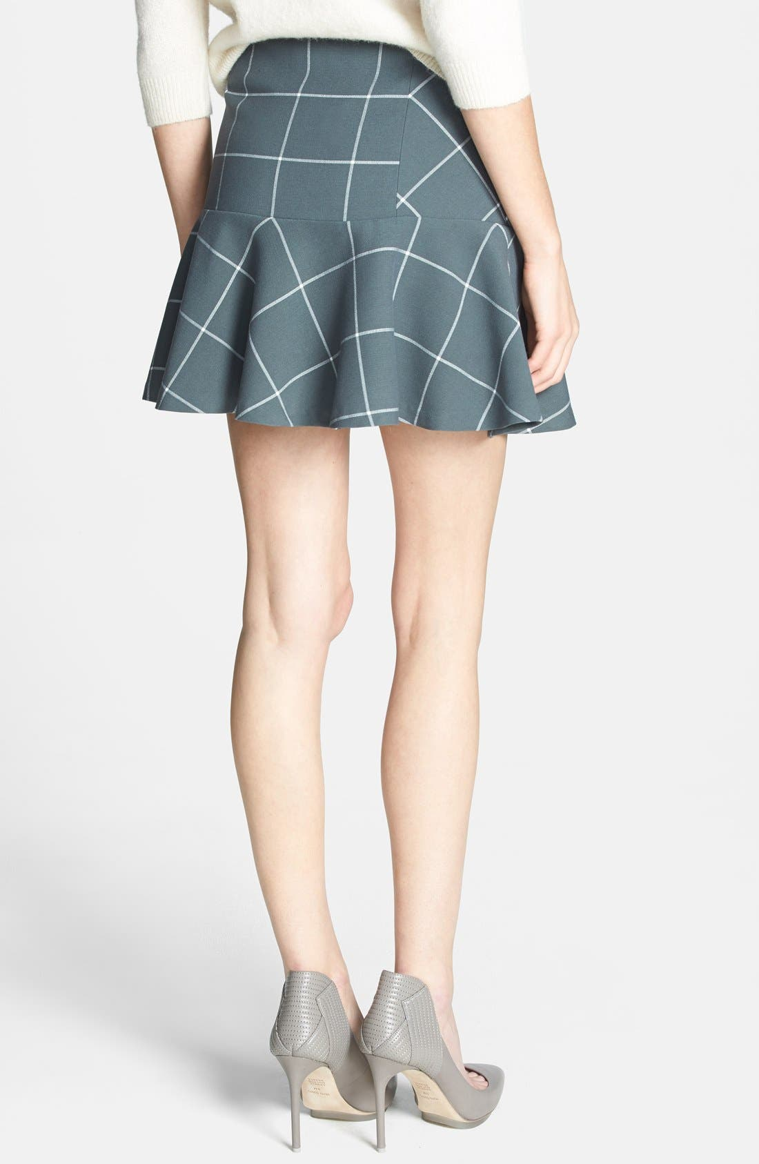 Alternate Image 2  - 1.STATE Windowpane Plaid Skirt (Nordstrom Exclusive)