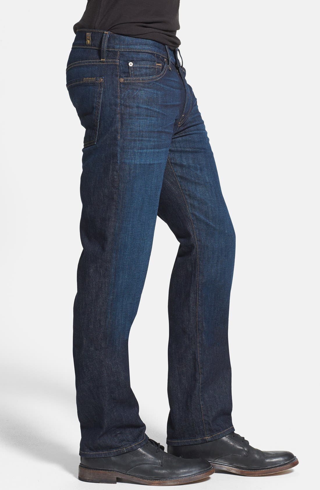 Alternate Image 3  - 7 For All Mankind® 'Slimmy' Slim Straight Leg Jeans (Monaco Blue)