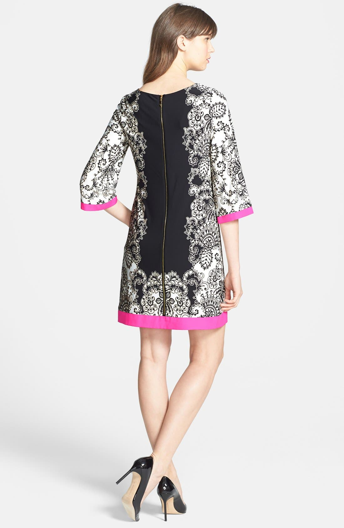 Alternate Image 2  - Eliza J Border Print Shift Dress