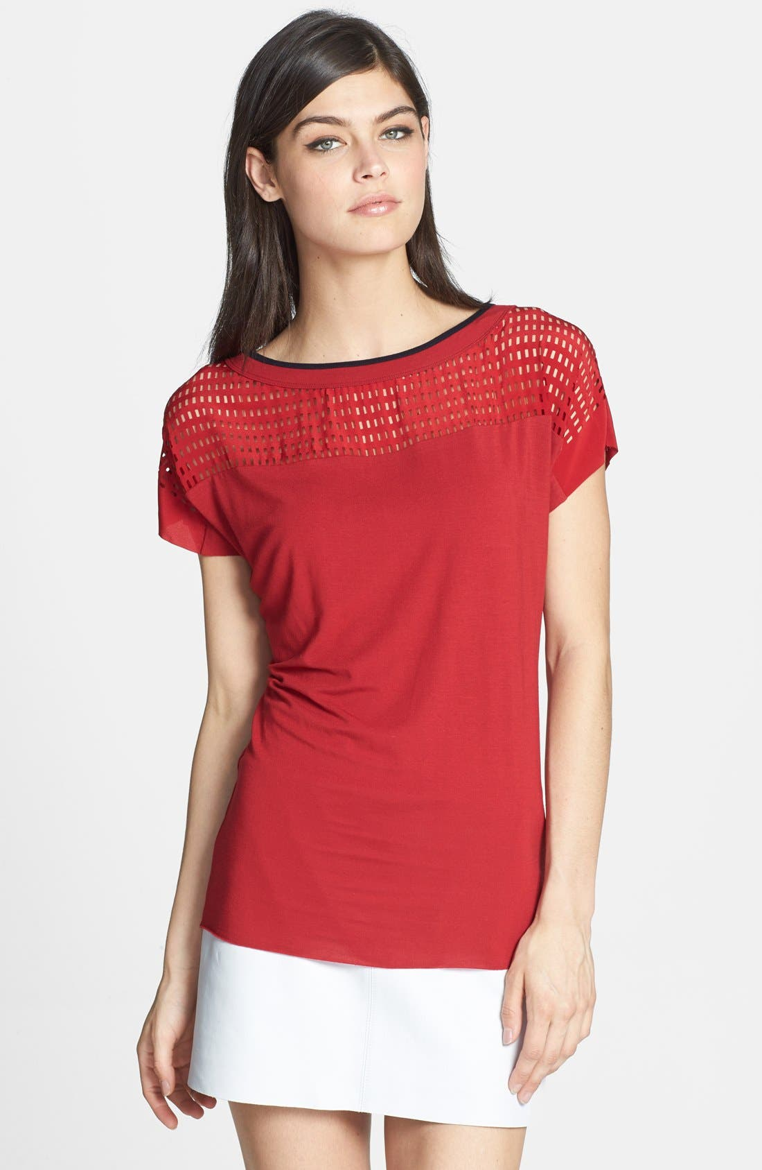 Alternate Image 1 Selected - Bailey 44 'Unnecessary Roughness' Cutout Silk Yoke Top