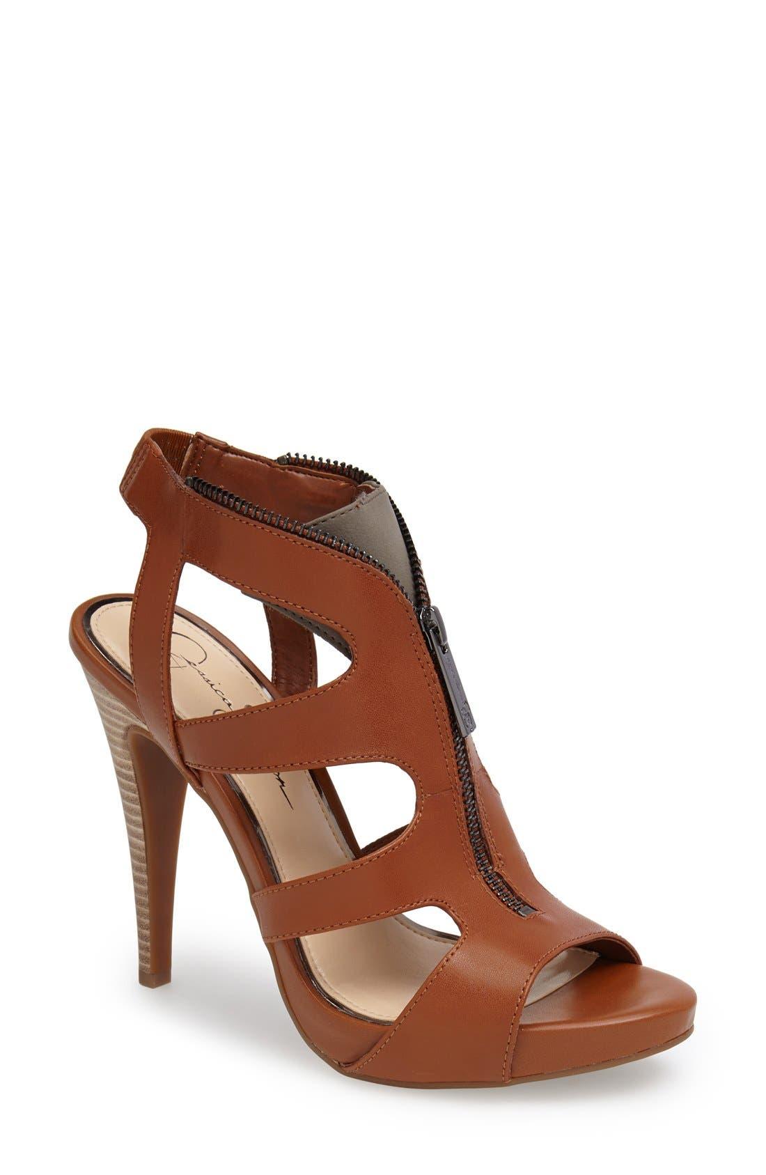 Alternate Image 1 Selected - Jessica Simpson 'Carmyne' Leather Sandal (Women)