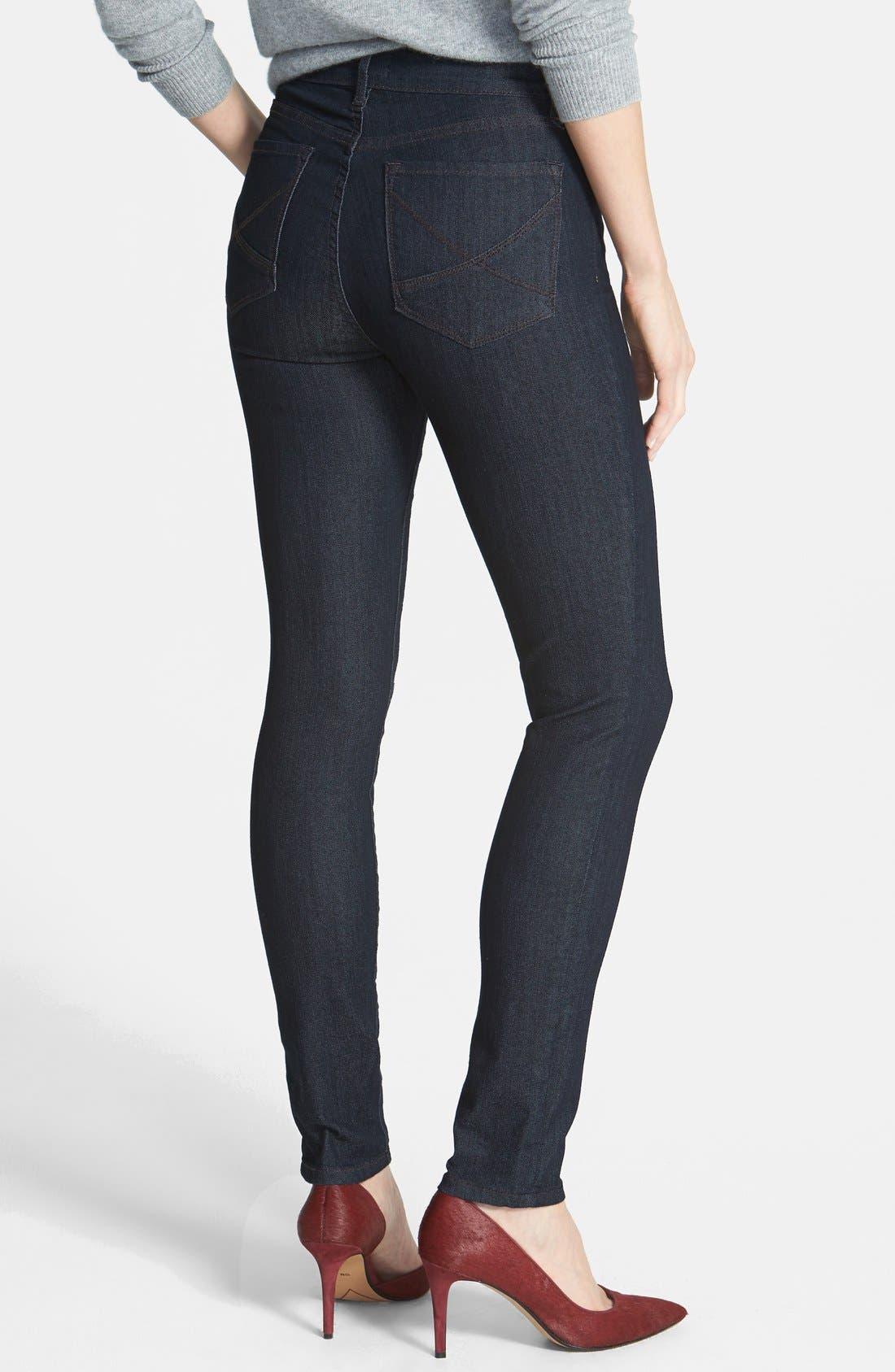 Alternate Image 2  - NYDJ 'Ami' Contrast Stitch Stretch Skinny Jeans (Dark Enzyme)