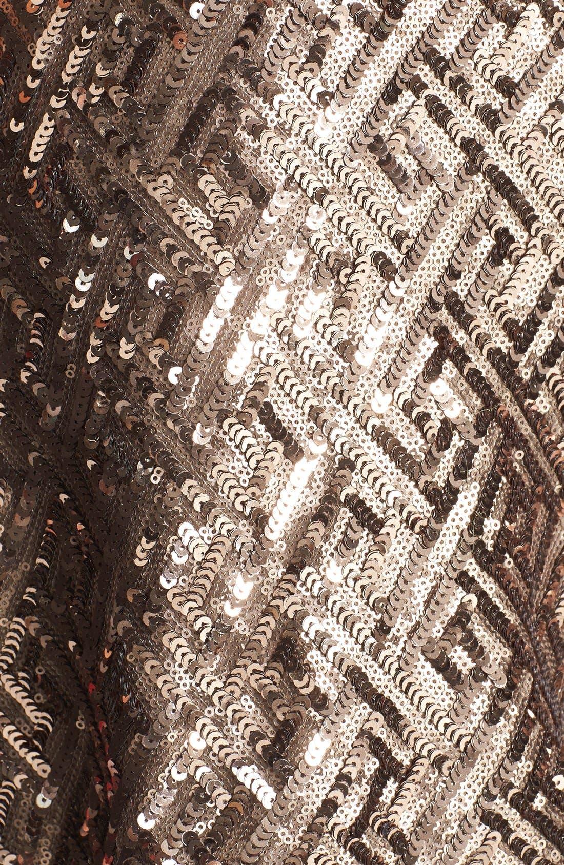 Alternate Image 4  - Dress the Population 'Mia' Sequin Cutaway Fit & Flare Dress
