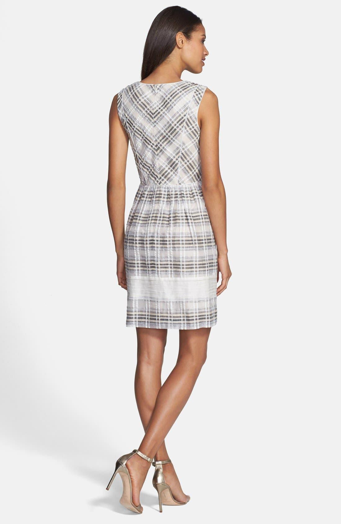Alternate Image 2  - Ivy & Blu Plaid Fit & Flare Dress