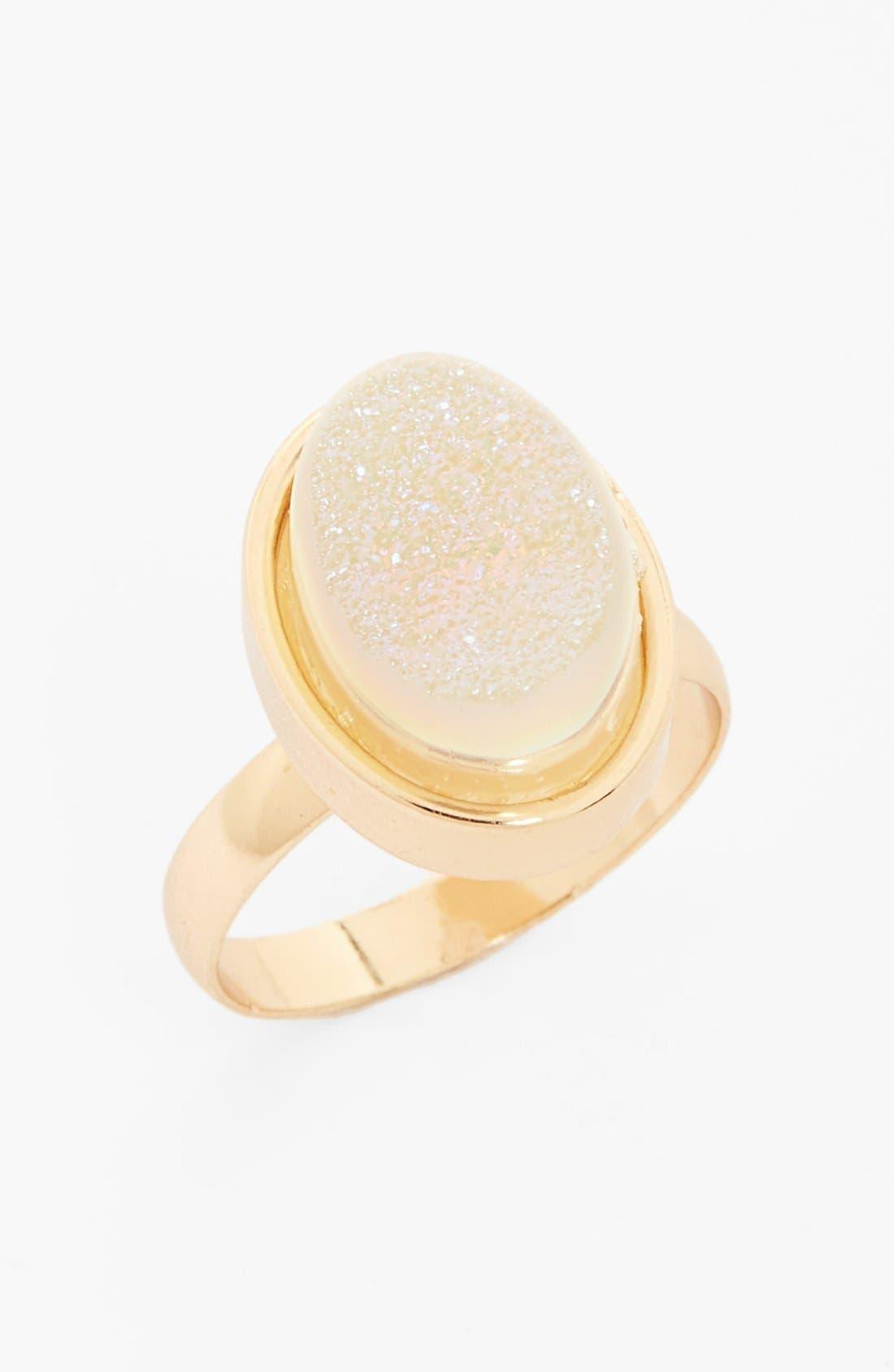 Alternate Image 1 Selected - BP. Glitter Stone Ring (Juniors)