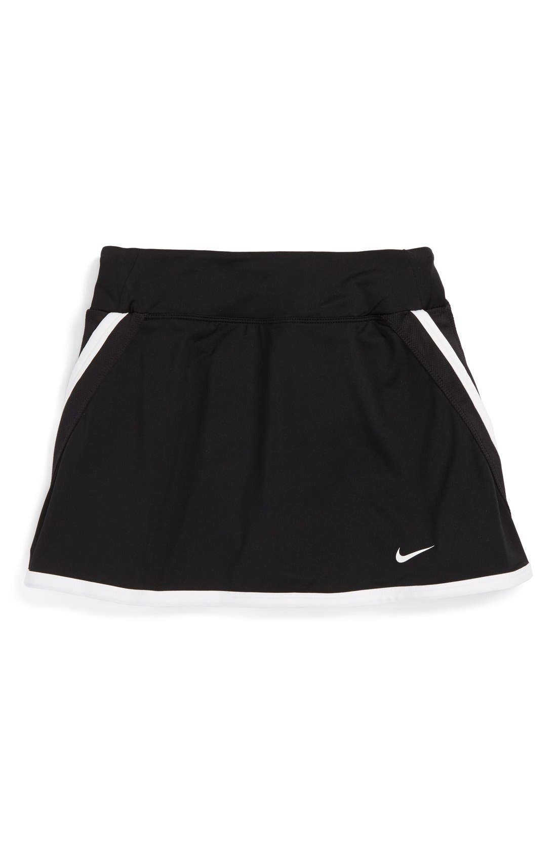 Alternate Image 1 Selected - Nike 'Power' Dri-FIT Tennis Skirt (Big Girls)