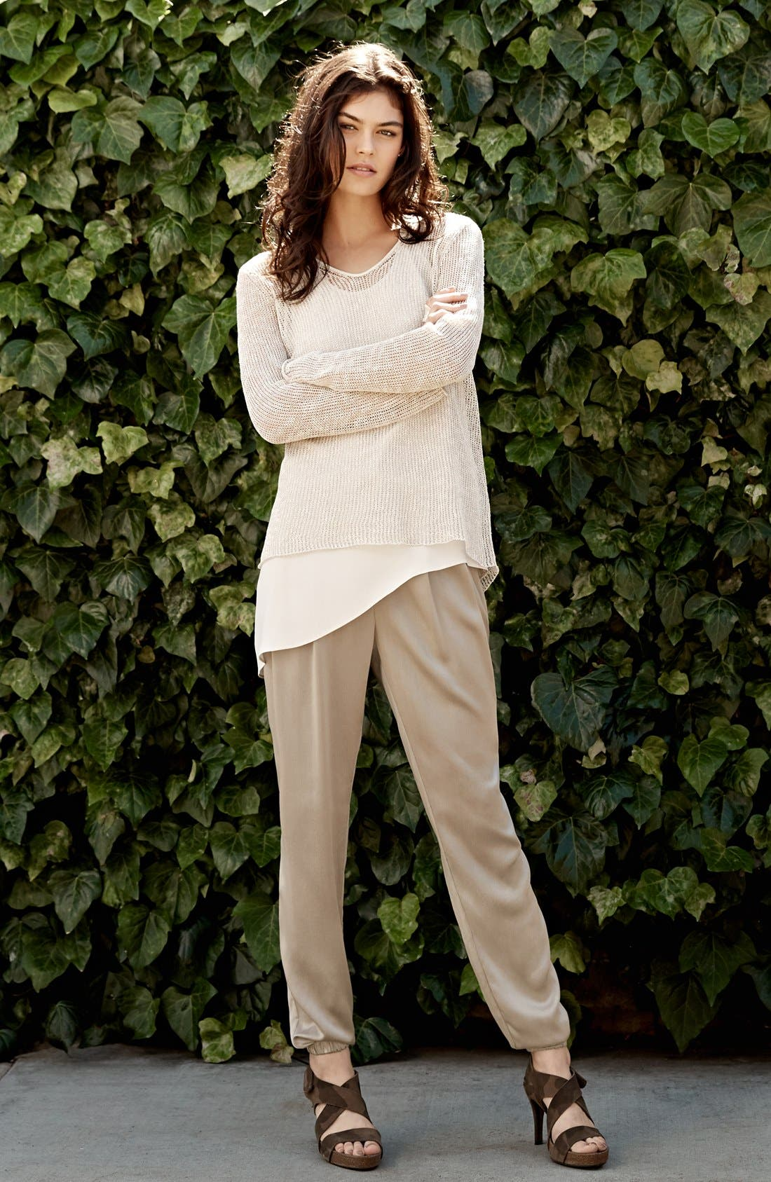 Alternate Image 4  - Eileen Fisher Silk Charmeuse Drawstring Ankle Pants