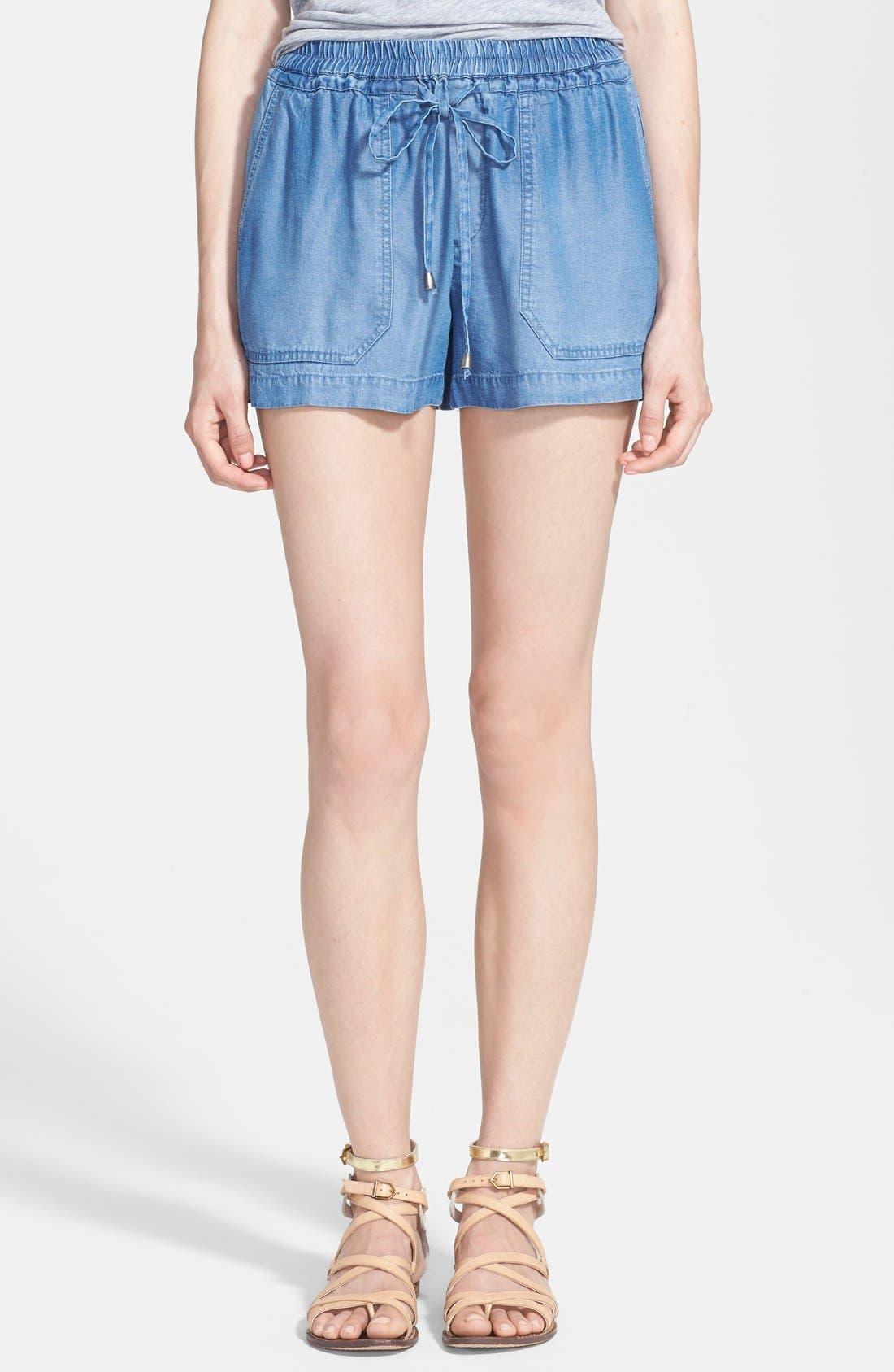 Main Image - Splendid Indigo Dye Shorts