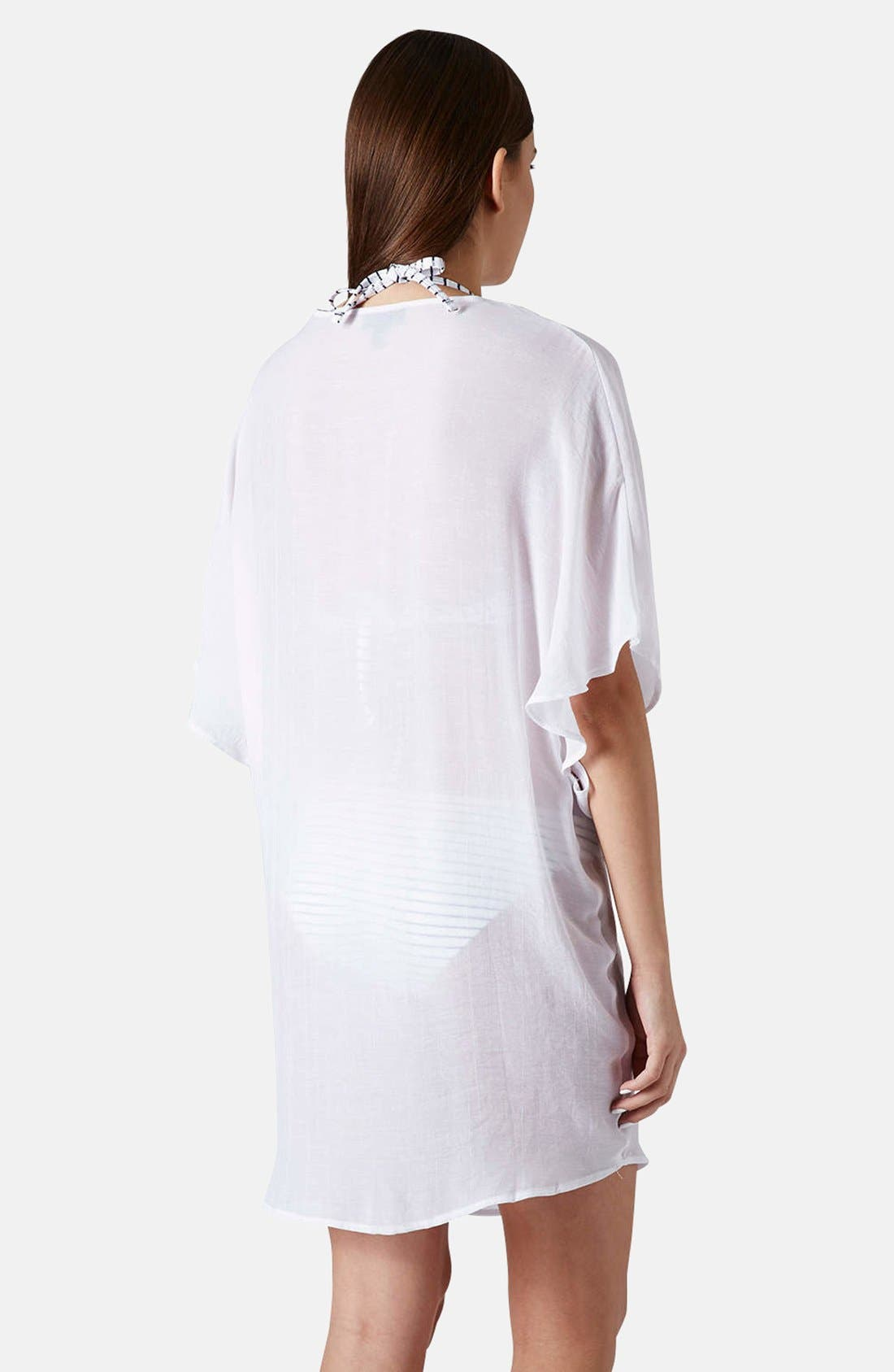 Alternate Image 2  - Topshop Twist Front Tunic Cover-Up