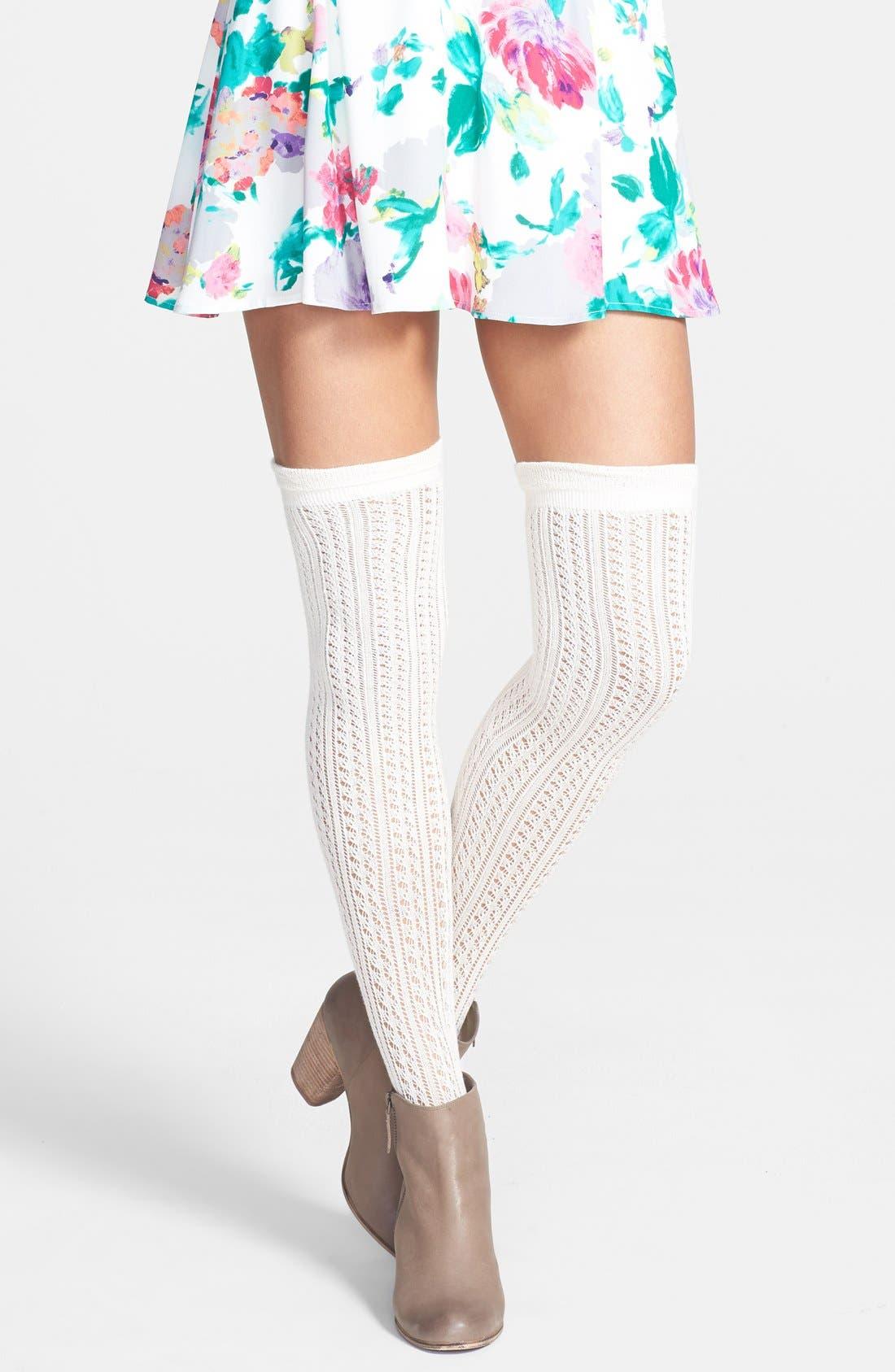 Alternate Image 1 Selected - K. Bell Socks Pointelle Over the Knee Socks