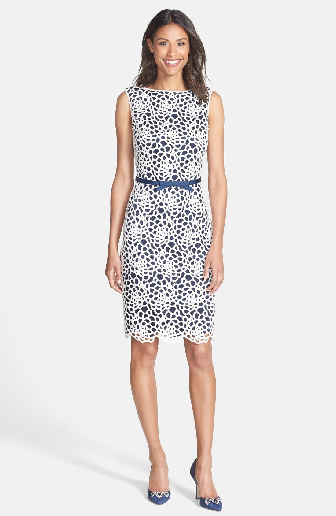 Alternate Image 3  - Tadashi Shoji Embroidered Sheath Dress