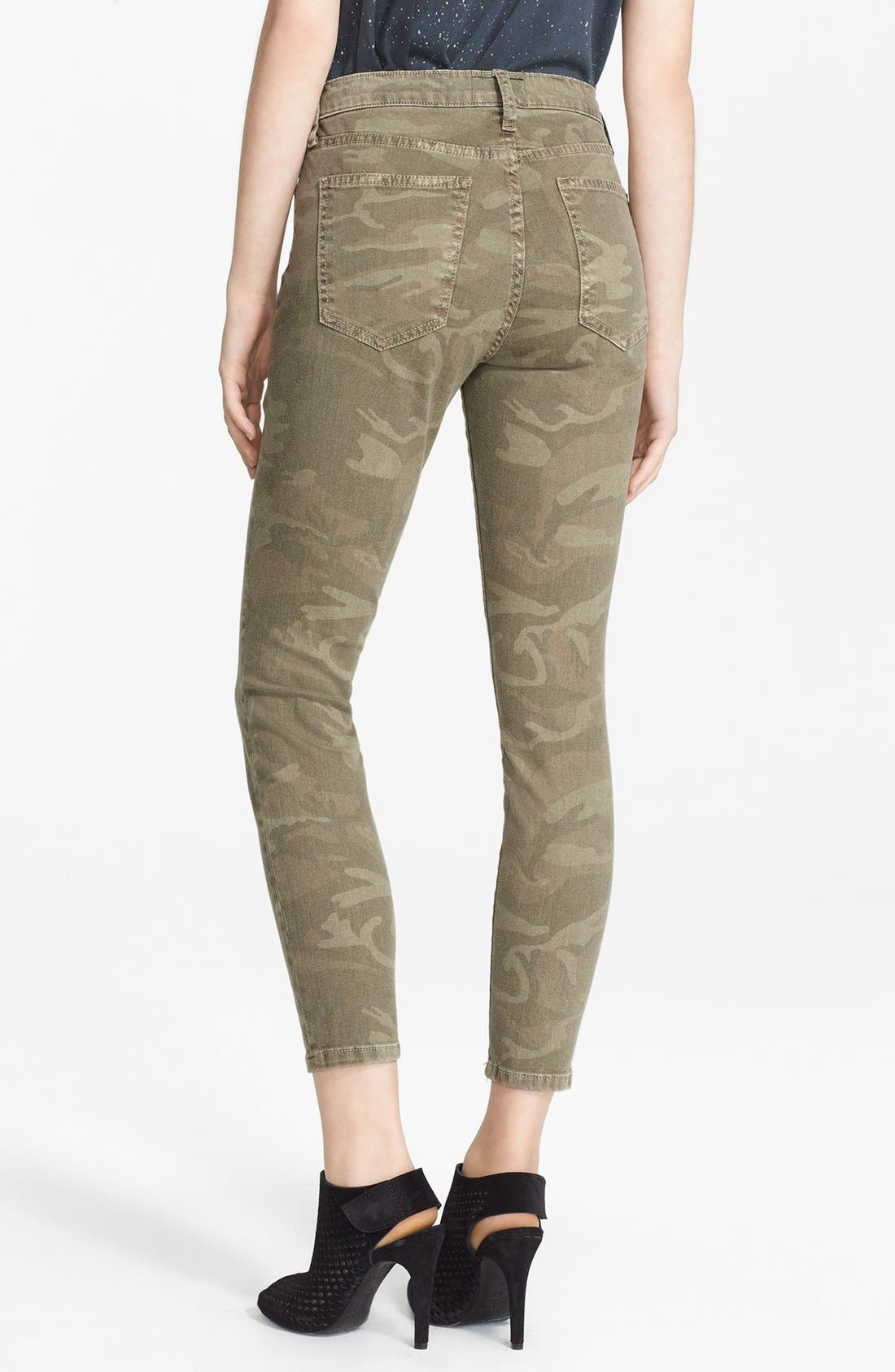 Alternate Image 2  - Current/Elliott 'The Stiletto' Print Skinny Jeans (Camo)