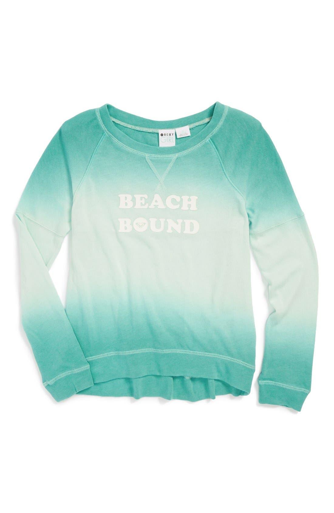 Alternate Image 1 Selected - Roxy 'Switch Up' Sweatshirt (Big Girls)