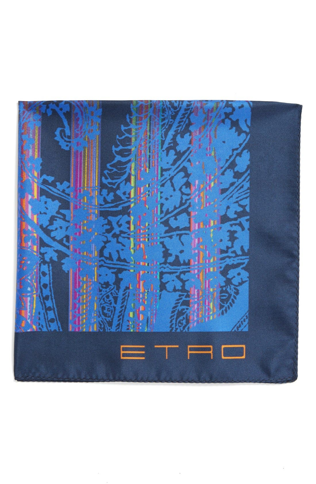 Alternate Image 1 Selected - Etro Print Silk Pocket Square