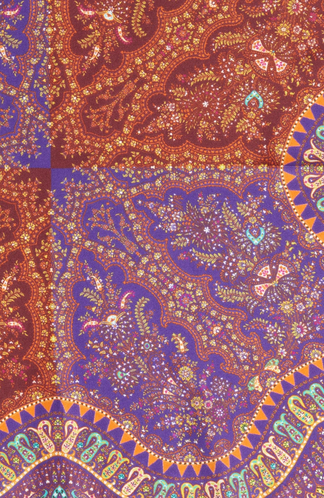 Alternate Image 3  - Etro Print Silk Pocket Square