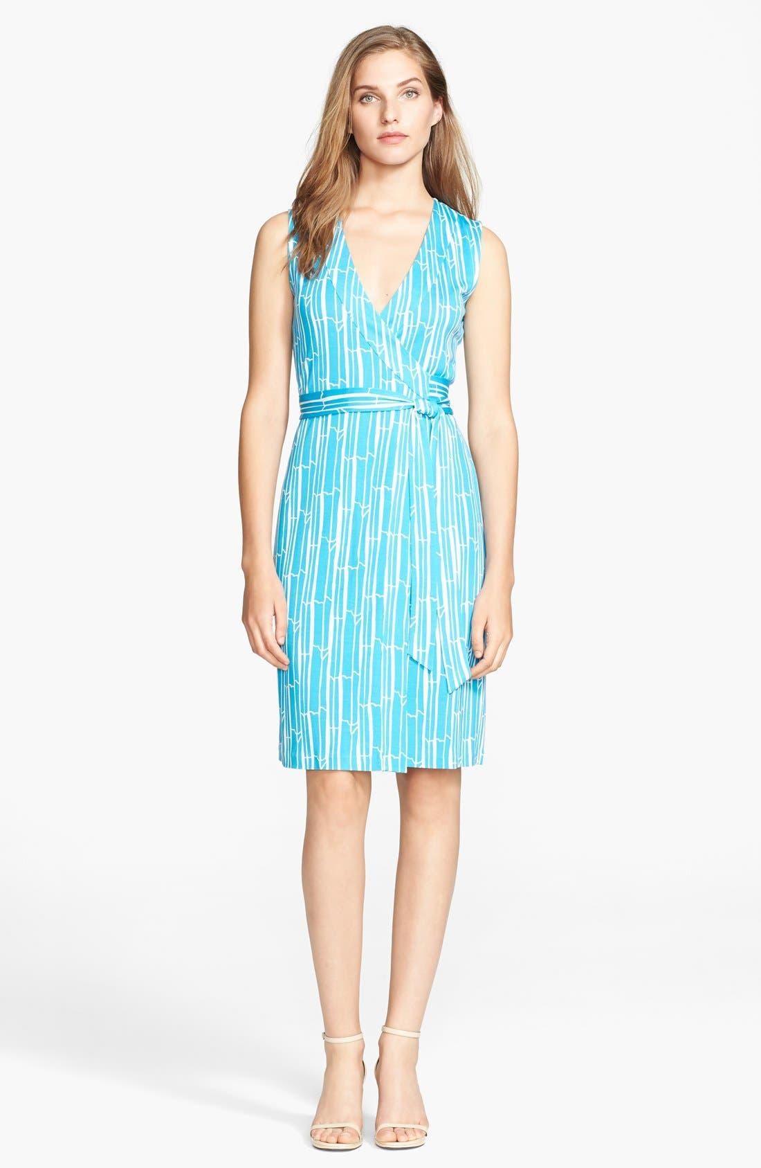 Alternate Image 1 Selected - Diane von Furstenberg 'New Yahzi' Silk Wrap Dress