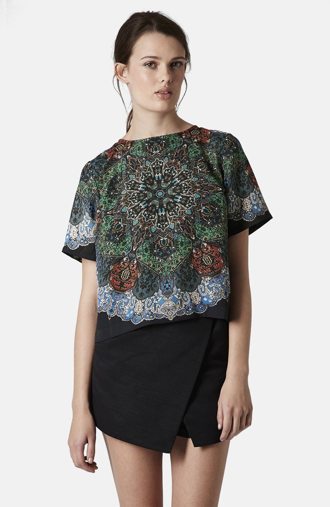 Alternate Image 1 Selected - Topshop Folk Print Tee