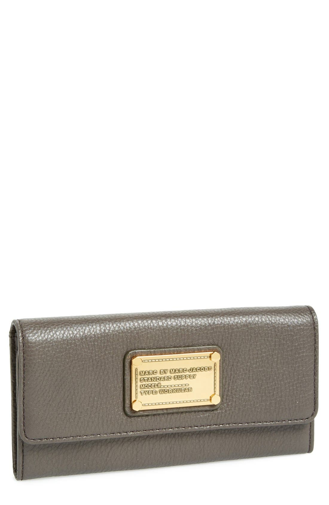Main Image - MARC BY MARC JACOBS 'Classic Q - Long' Trifold Wallet