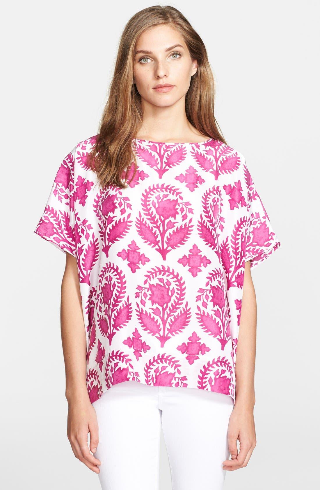 Main Image - Diane von Furstenberg 'New Hanky' Print Silk Top