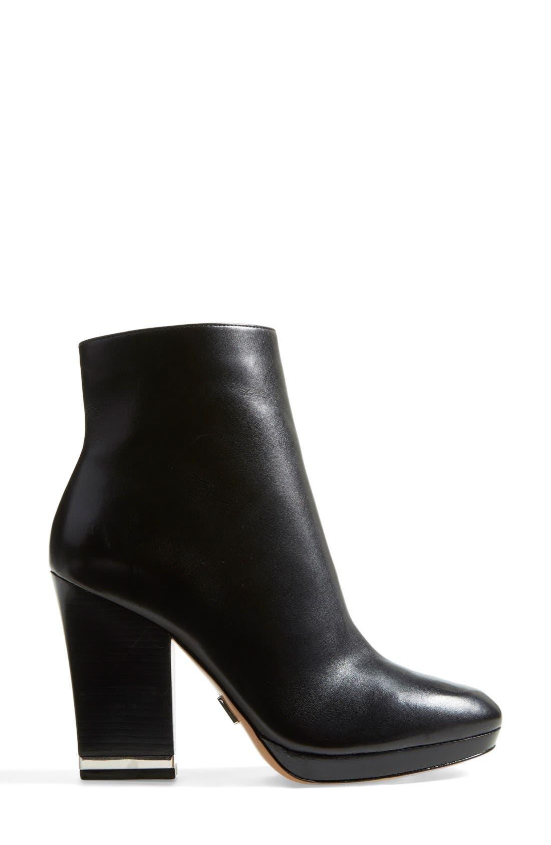 Alternate Image 4  - Michael Kors 'Catherine' Calfskin Leather Almond Toe Bootie (Women)
