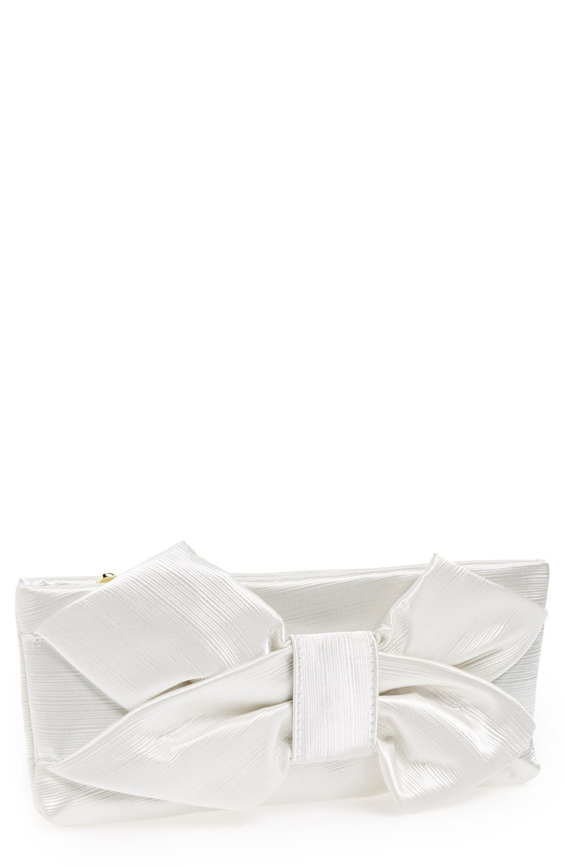 Alternate Image 1 Selected - Betsey Johnson Satin Bow Clutch